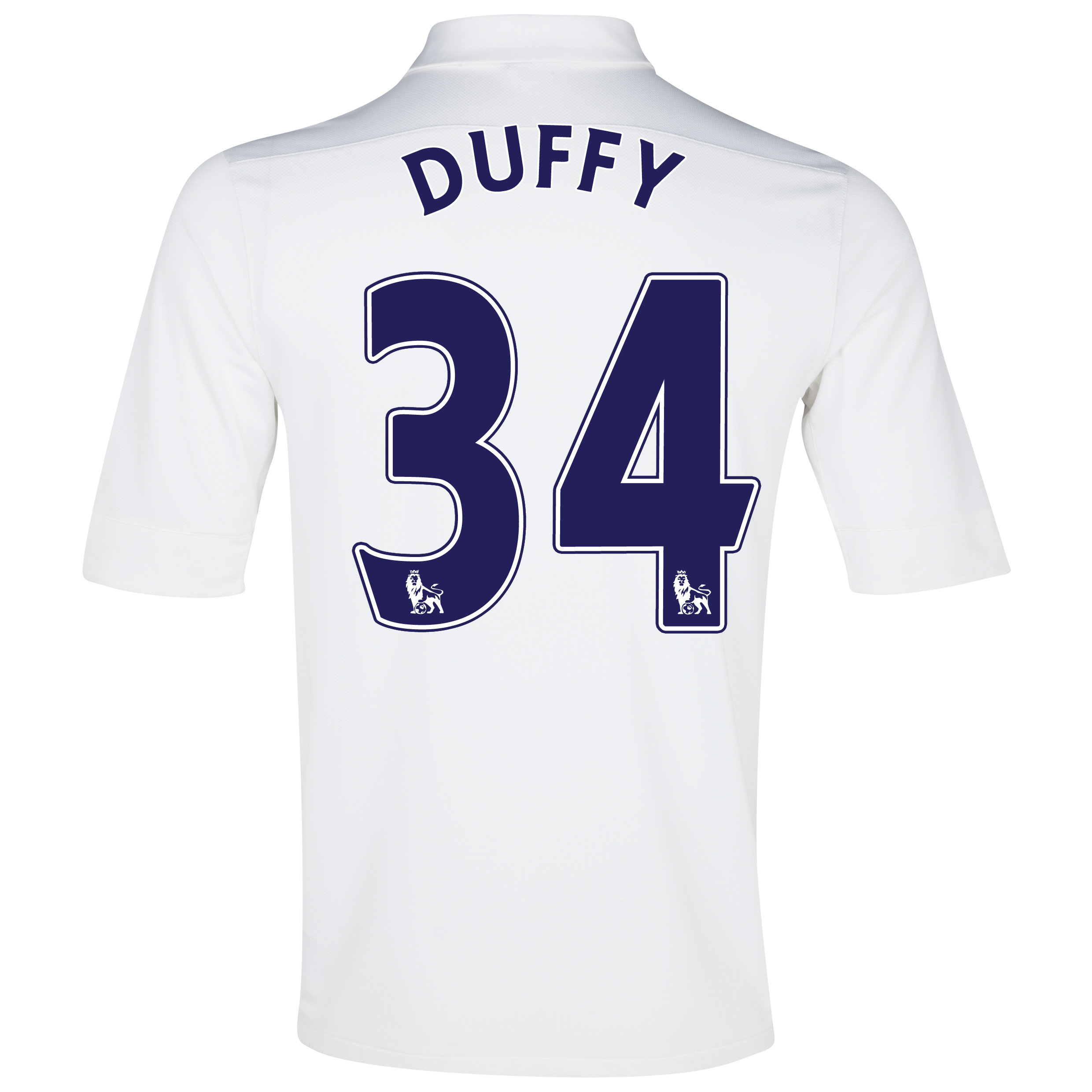 Everton 3rd Shirt 2012/13 with Duffy 34 printing