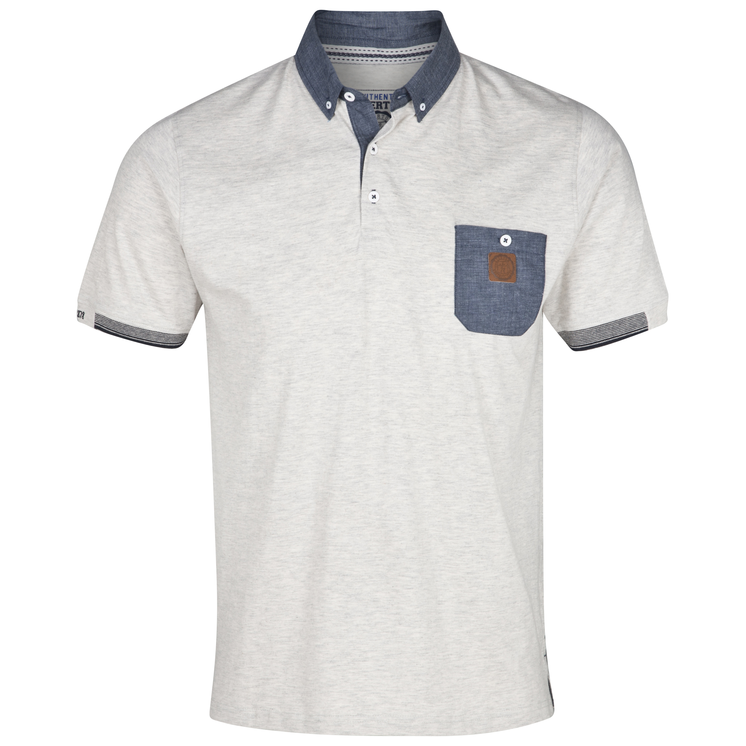 Everton Deck Polo Top - Ecru Marl