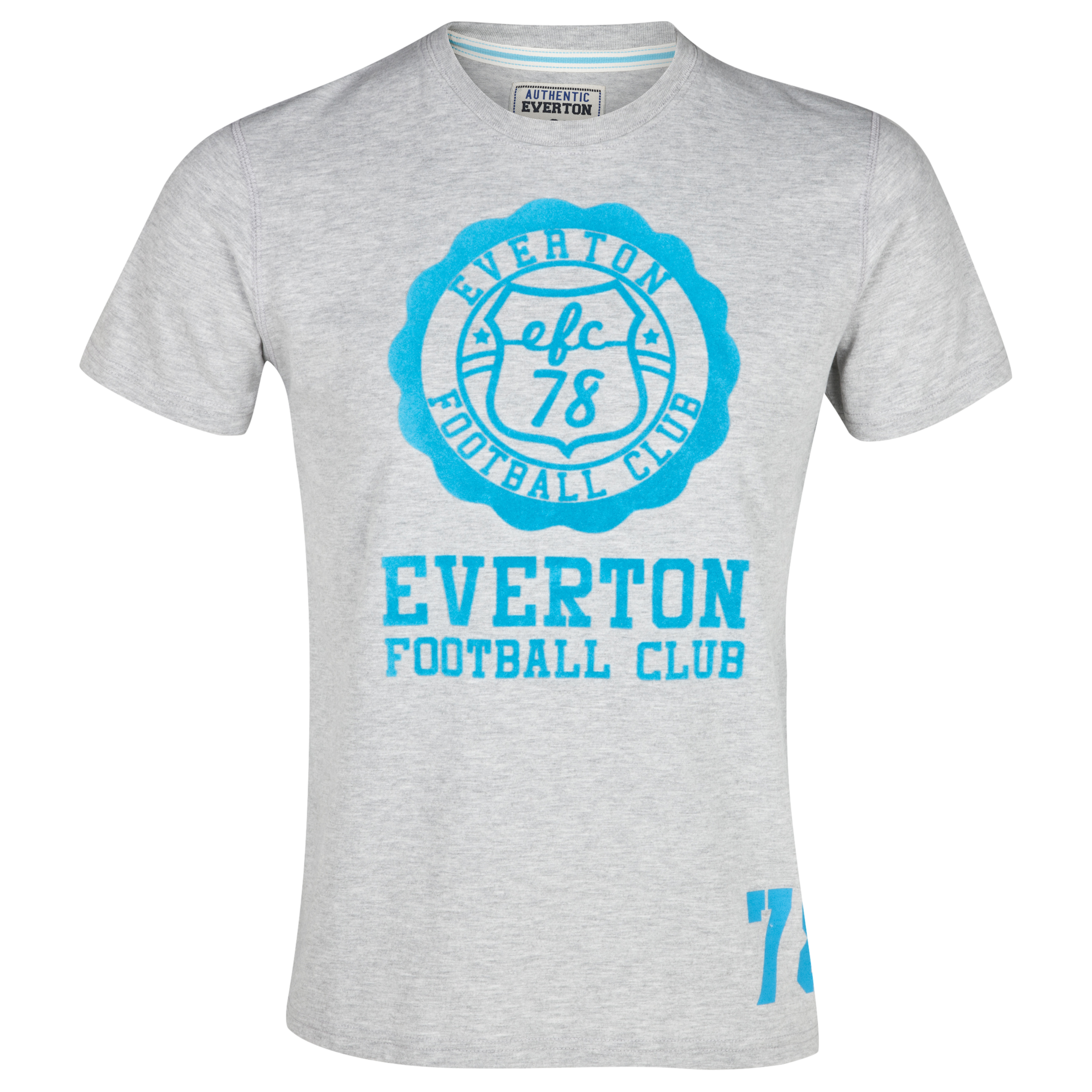 Everton Halo T-Shirt - Grey/Aqua - Older Boys