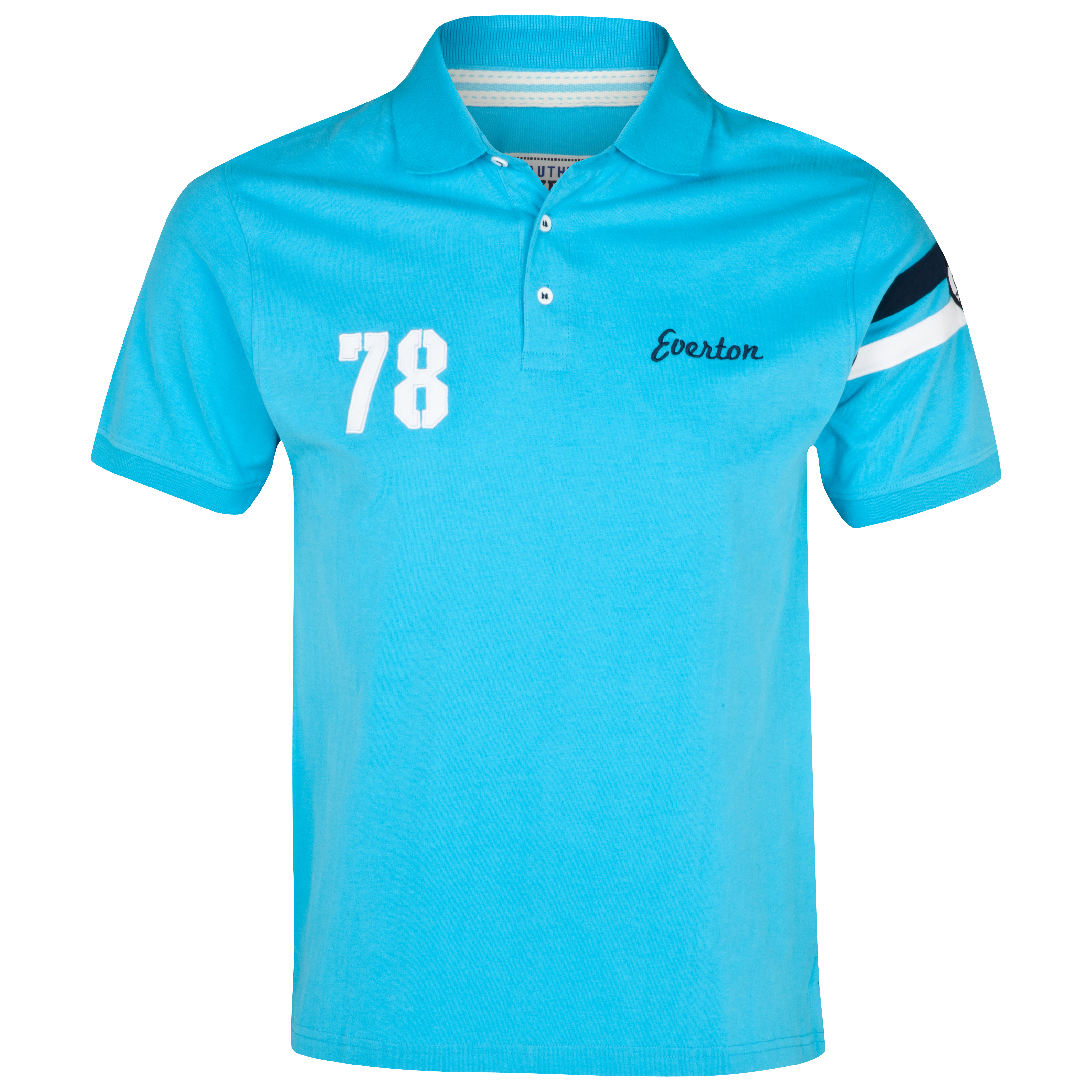 Everton Arms Polo Top - Aqua - Older Boys