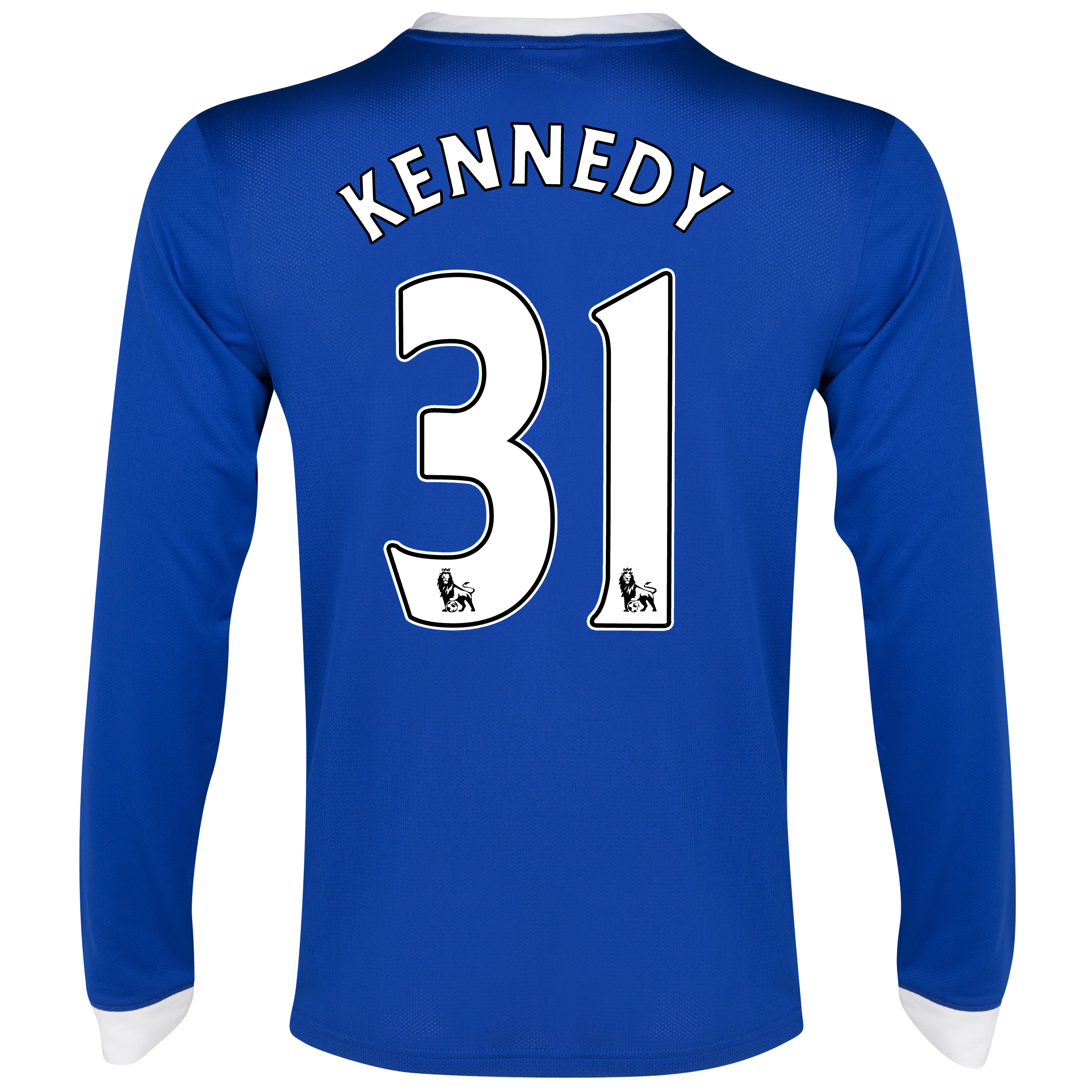 Everton Home Shirt 2012/13 - Long Sleeved with Kennedy 31 printing
