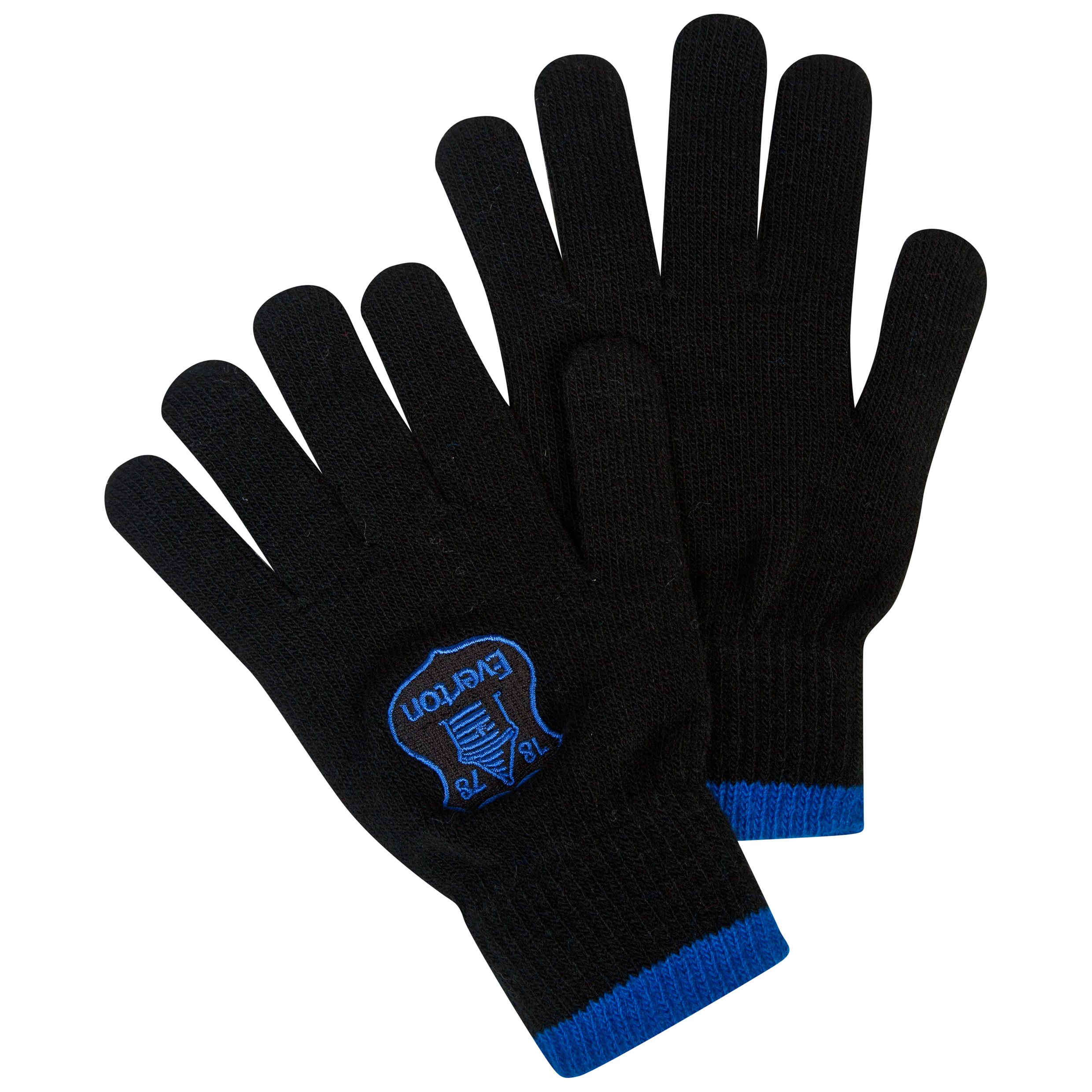 Everton Core Knitted Gloves - Black - Junior