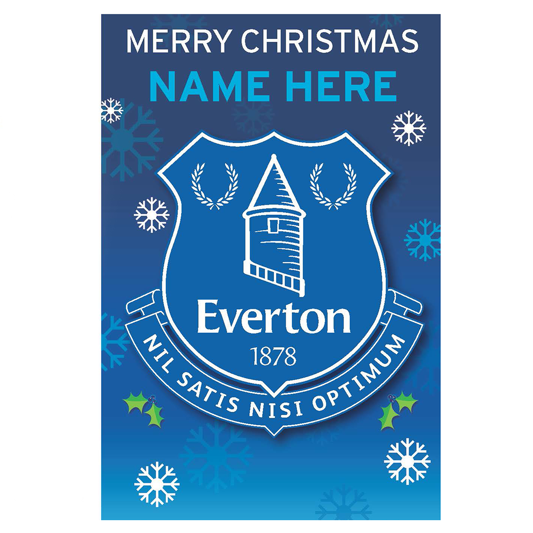 Everton Personalised Christmas Card