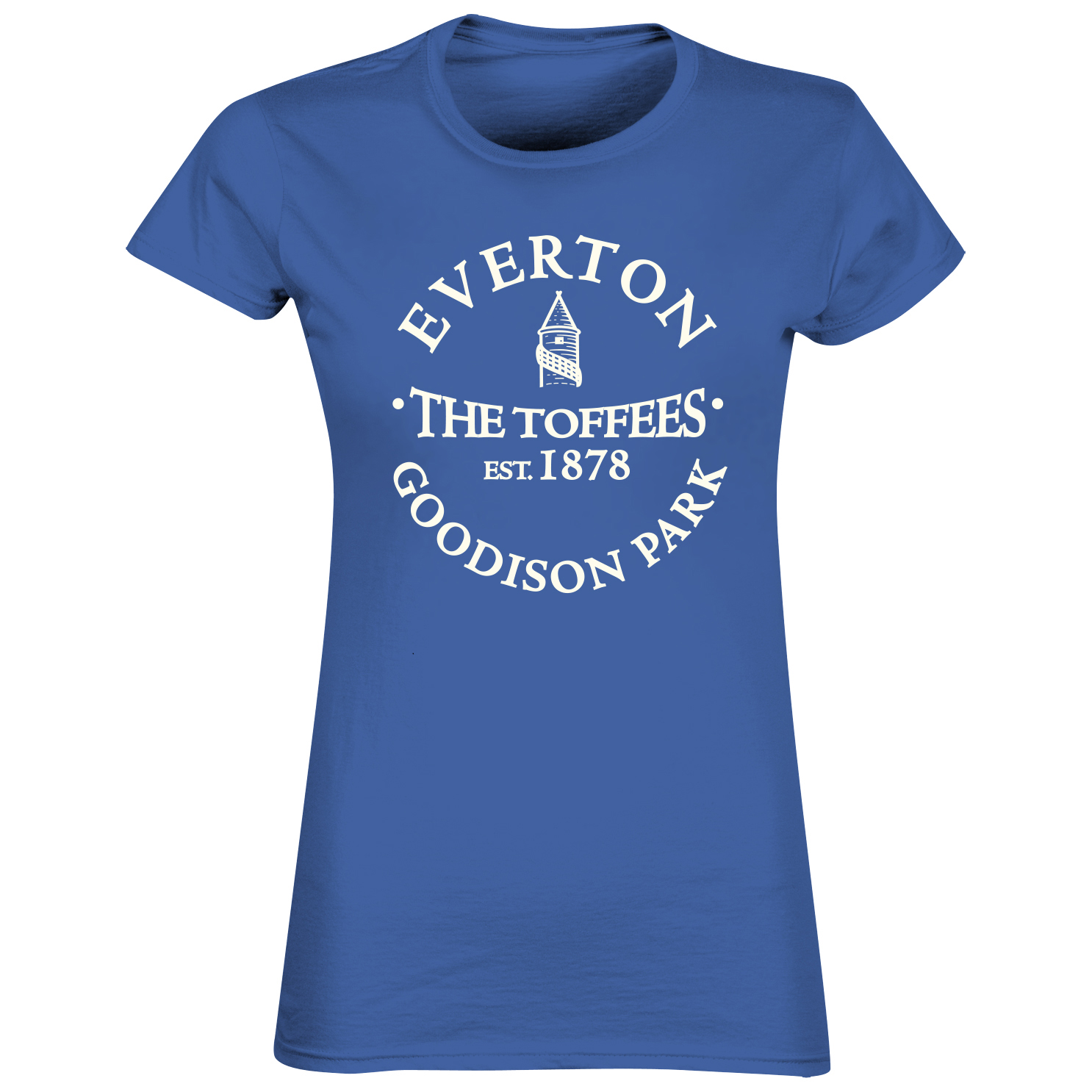 Everton 2 for 20 Toffees T-Shirt - Royal - Womens