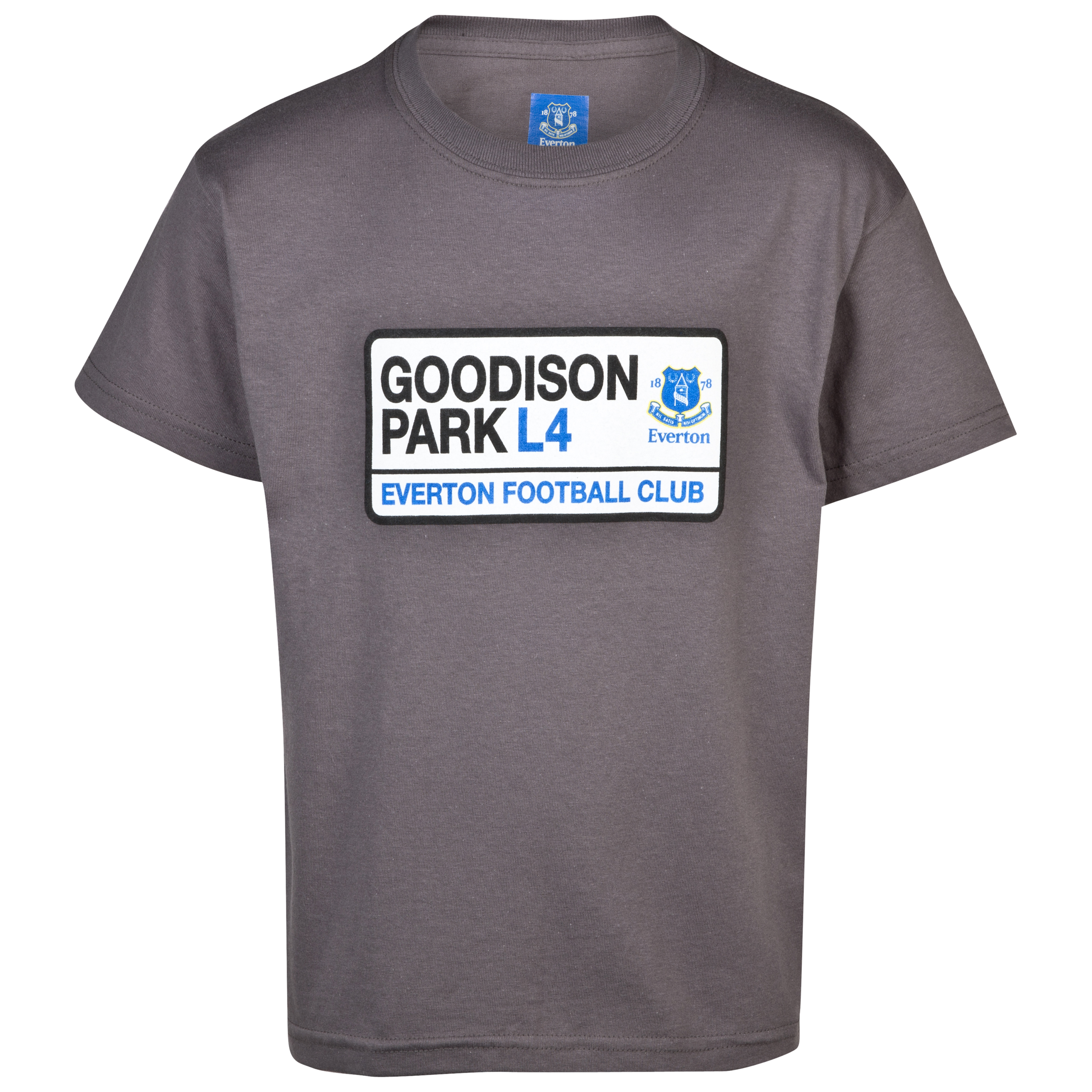 Everton 2for15 Goodison T-Shirt - Charcoal - Junior
