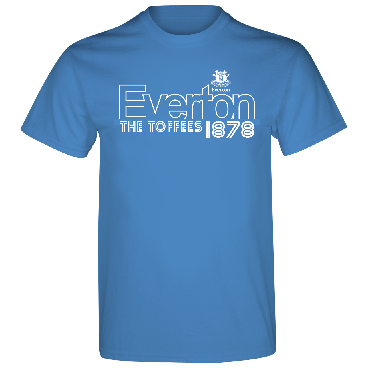 Everton 2for15 Line T-Shirt - Sapphire Blue - Junior
