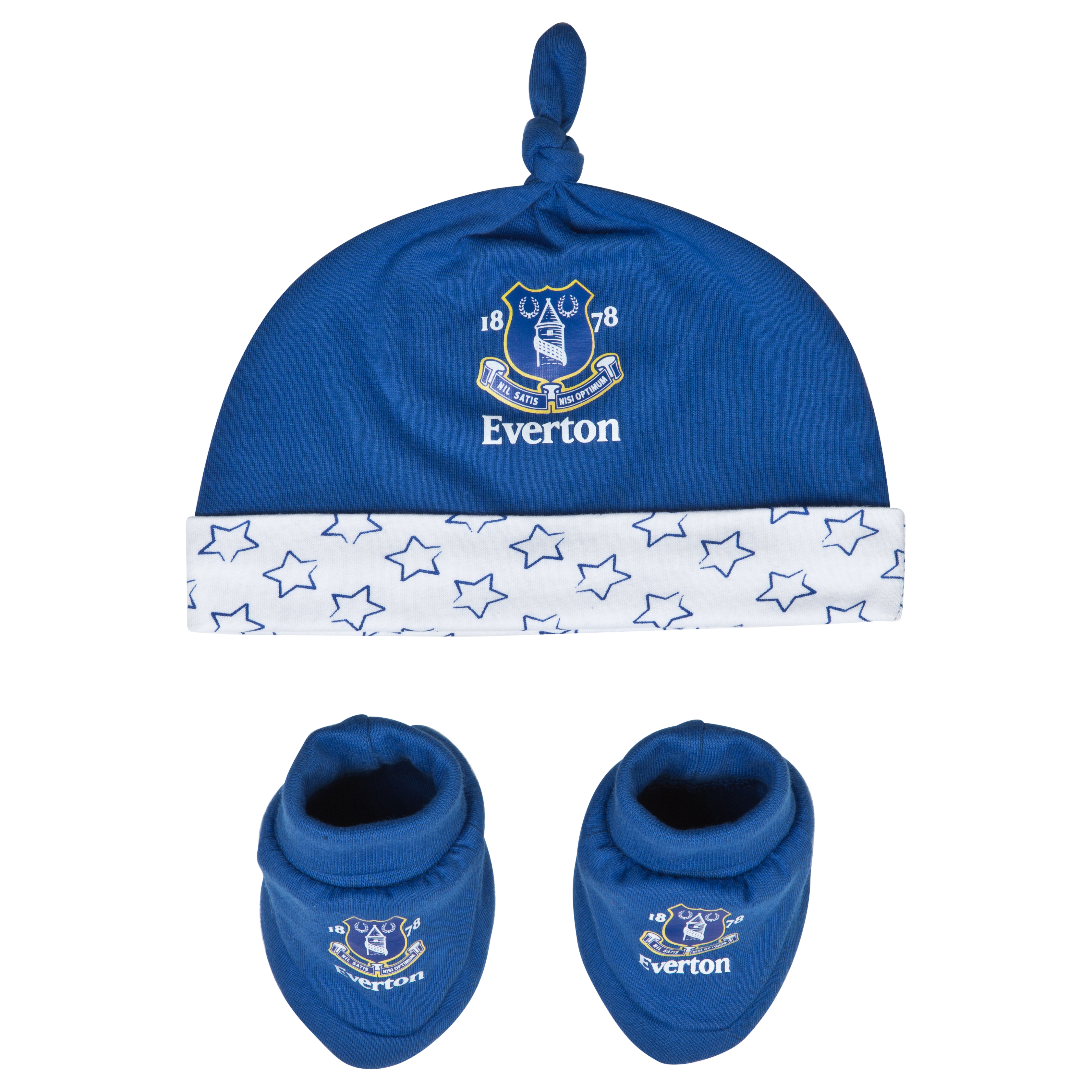 Everton Crest  Hat and Booties - Everton Blue/White - Baby