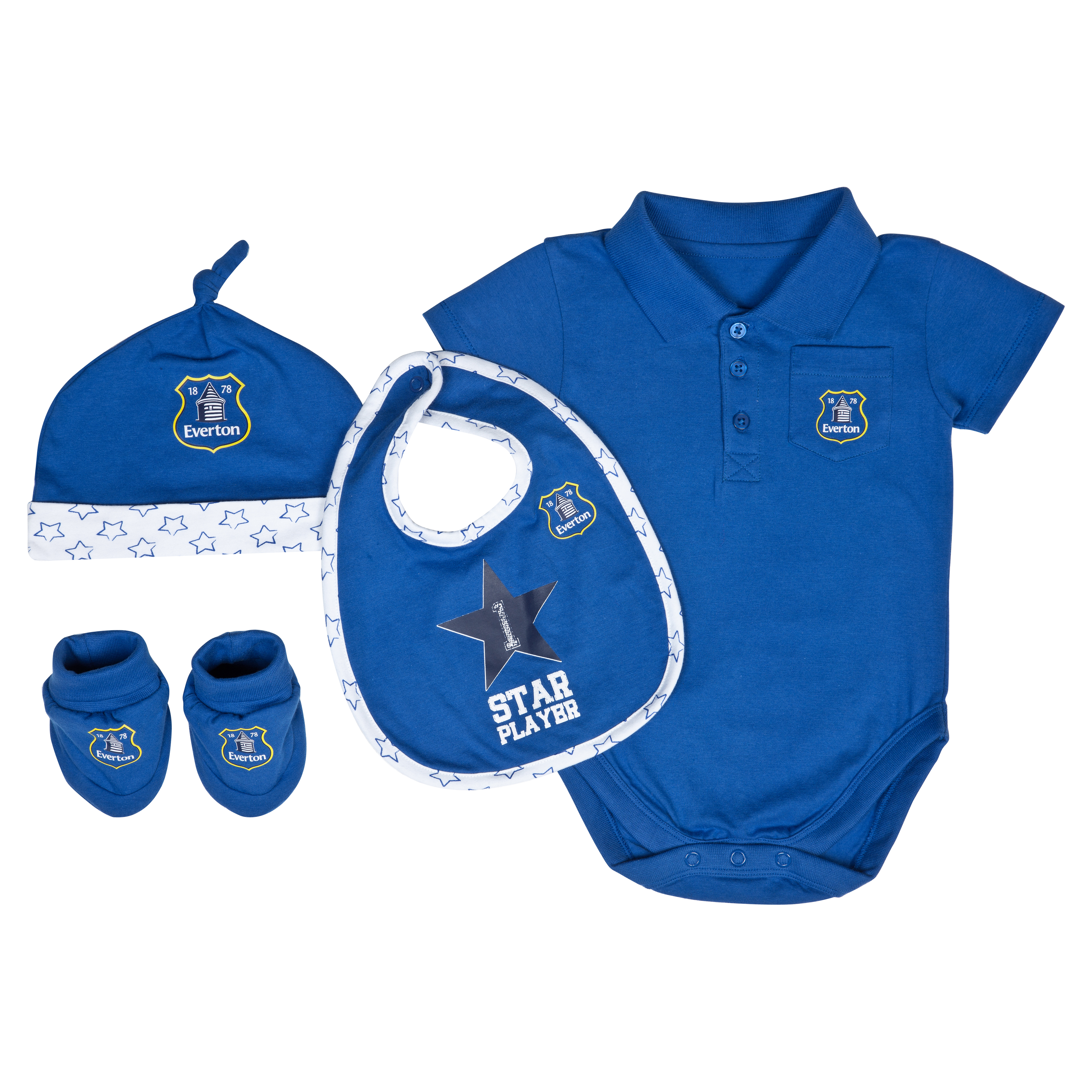 Everton Star Gift Set - Blue/White - Baby