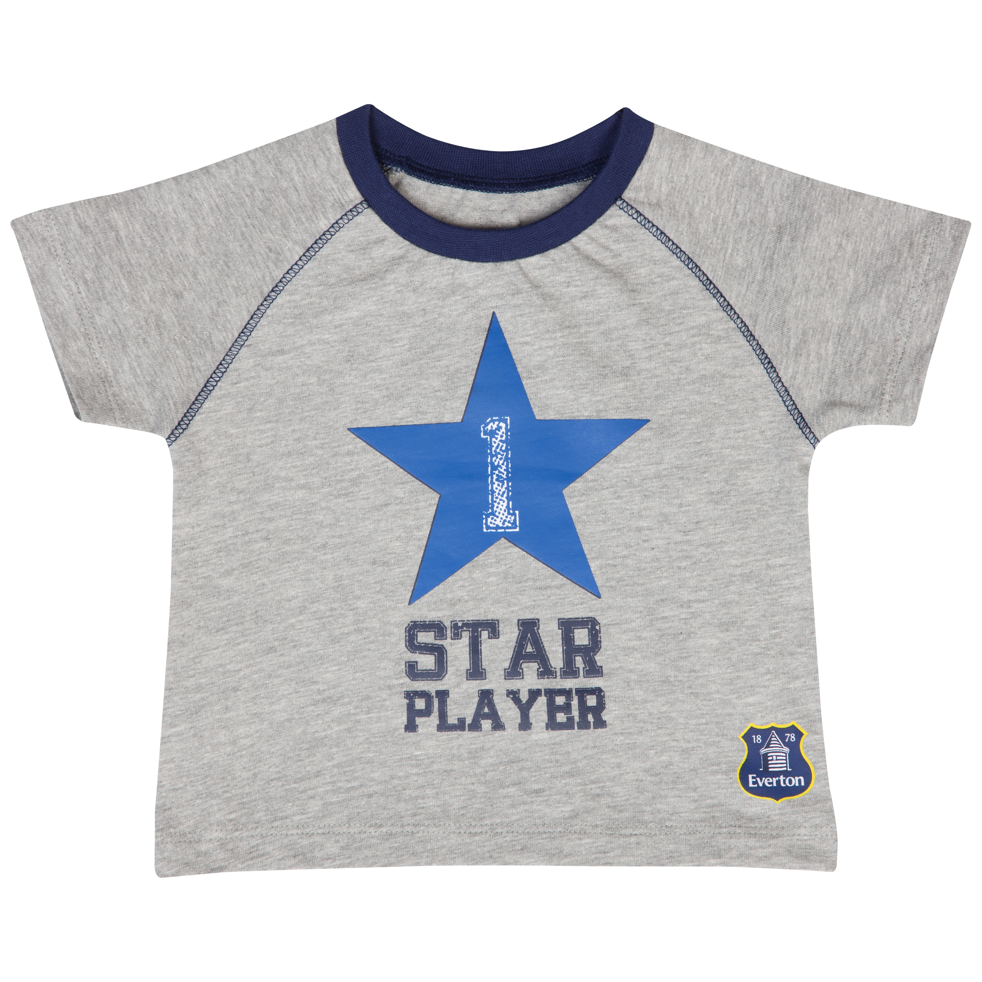 Everton Star T-Shirt - Grey/Blue - Baby