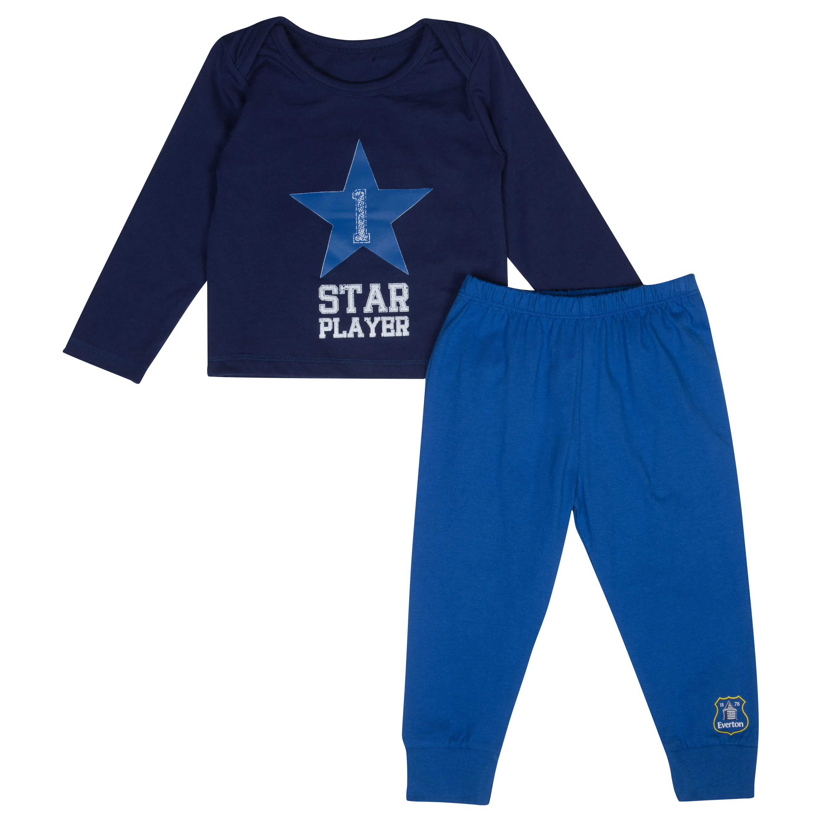Everton Star 2 Piece Set - Navy/Blue - Baby