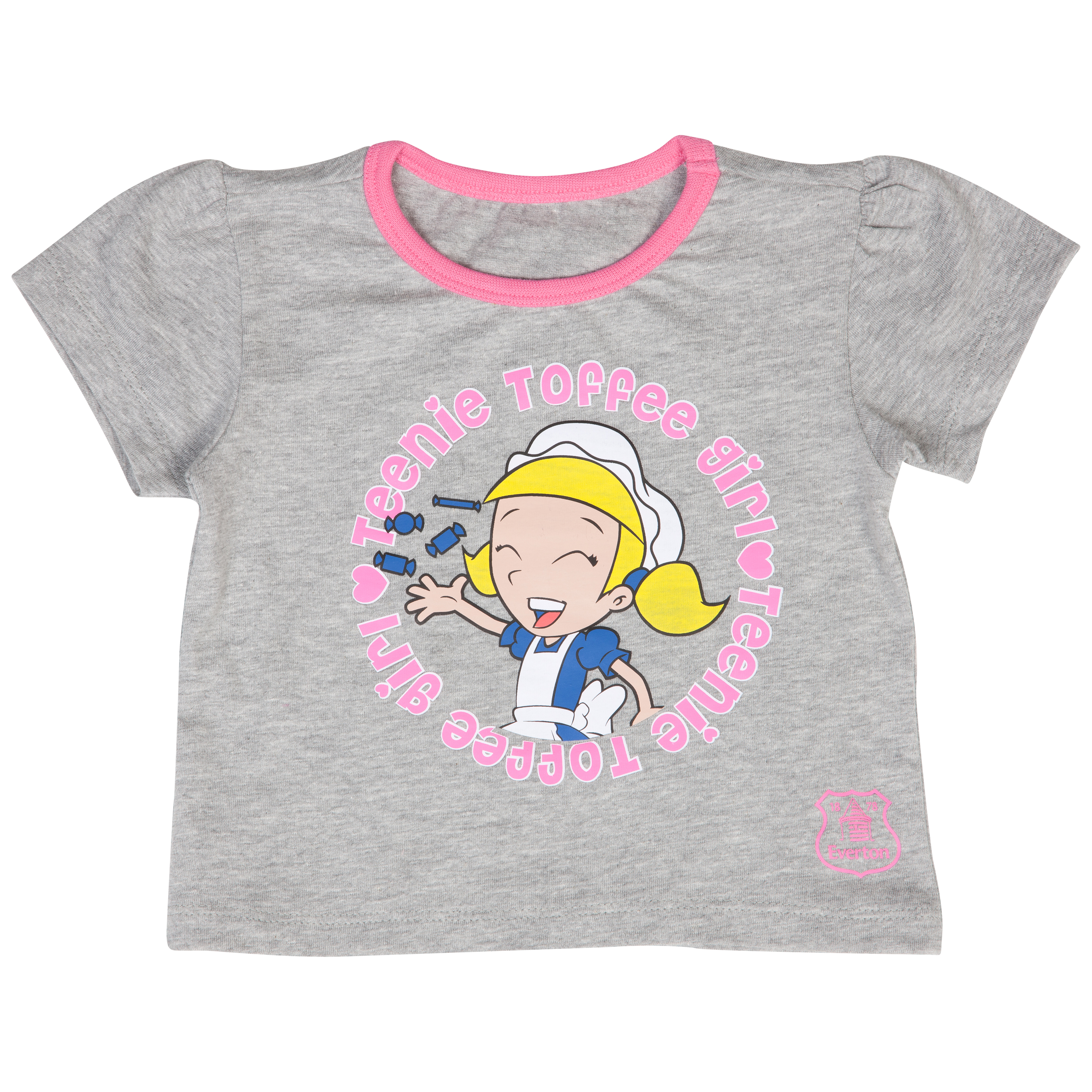 Everton Mascot T-Shirt - Grey/Pink