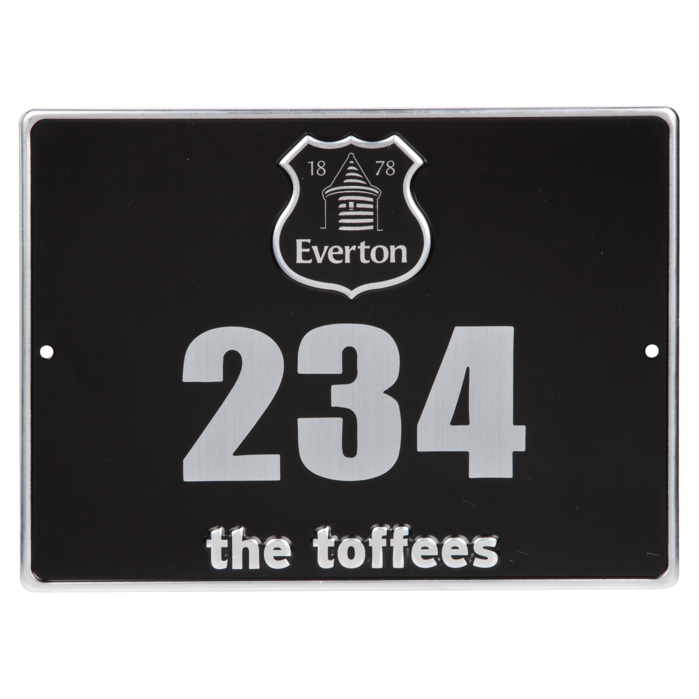 Everton Metal Door Plaque
