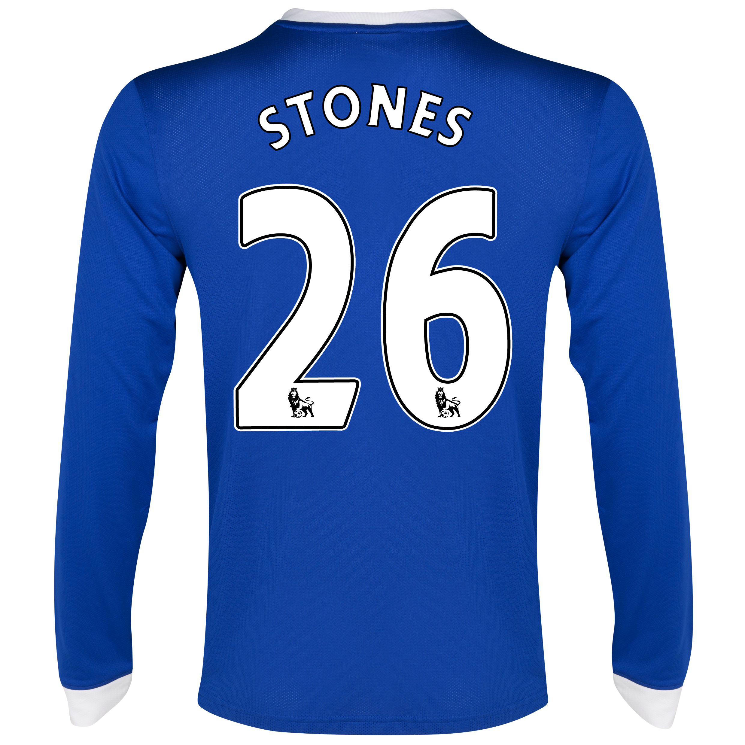 Everton Home Shirt 2012/13 - Long Sleeved with Stones 26 printing