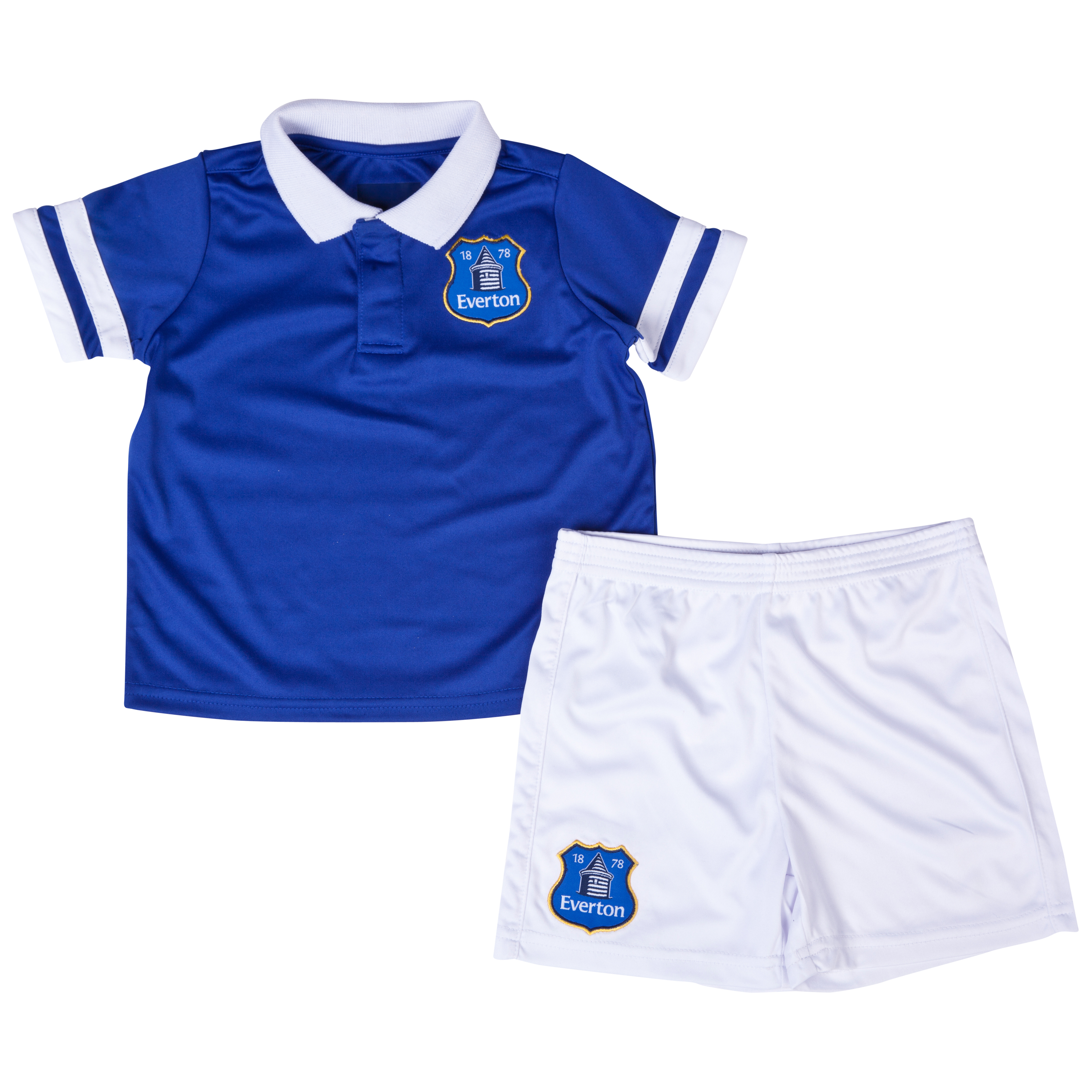 Everton 13/14 Home T-Shirt and Short Set Lt Blue