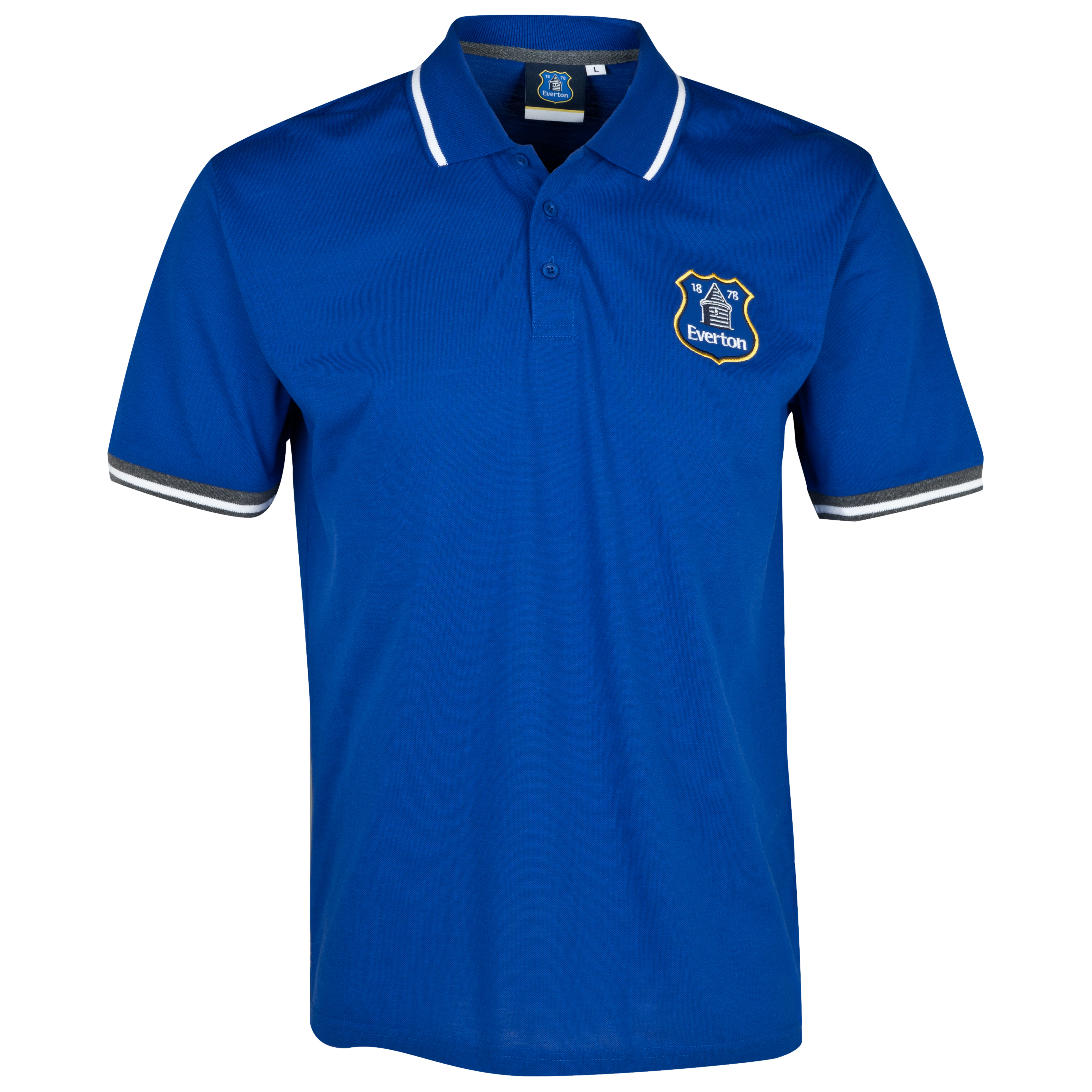 Everton Essentials Stadia Polo Shirt - Older Boys Royal Blue