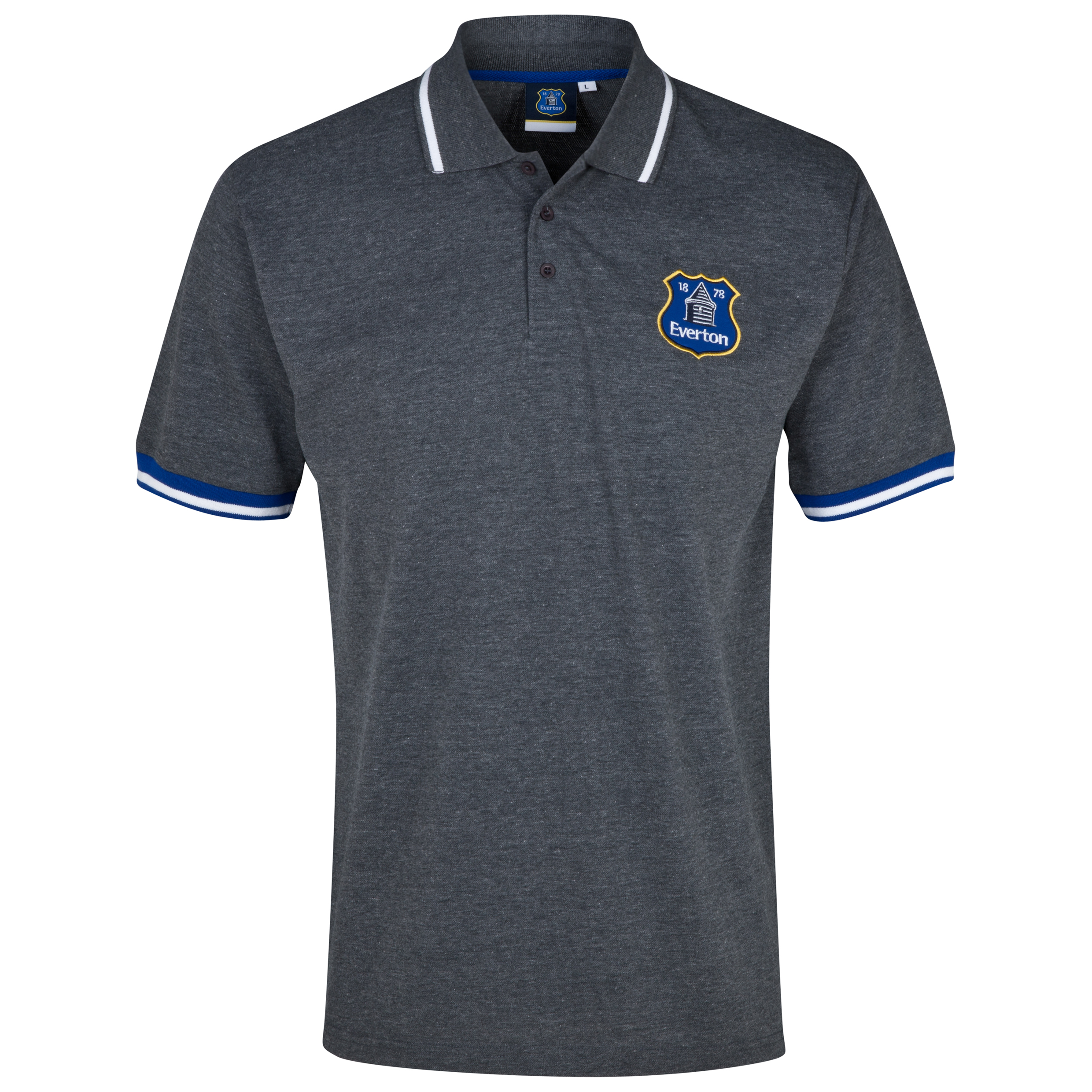 Everton Essentials Stadia Polo Shirt - Mens Charcoal
