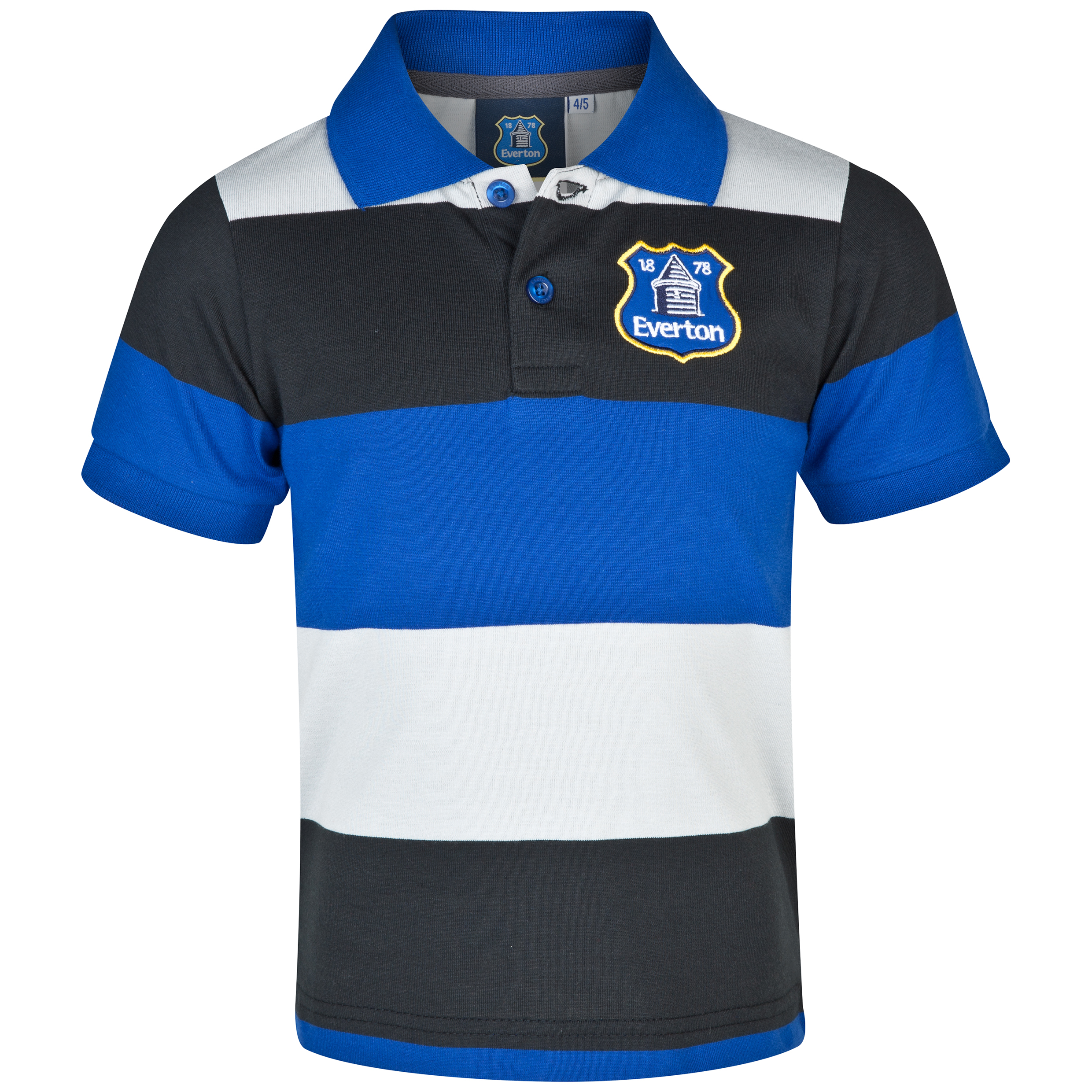 Everton Essentials Hoop Polo Shirt - Infant Boys Grey