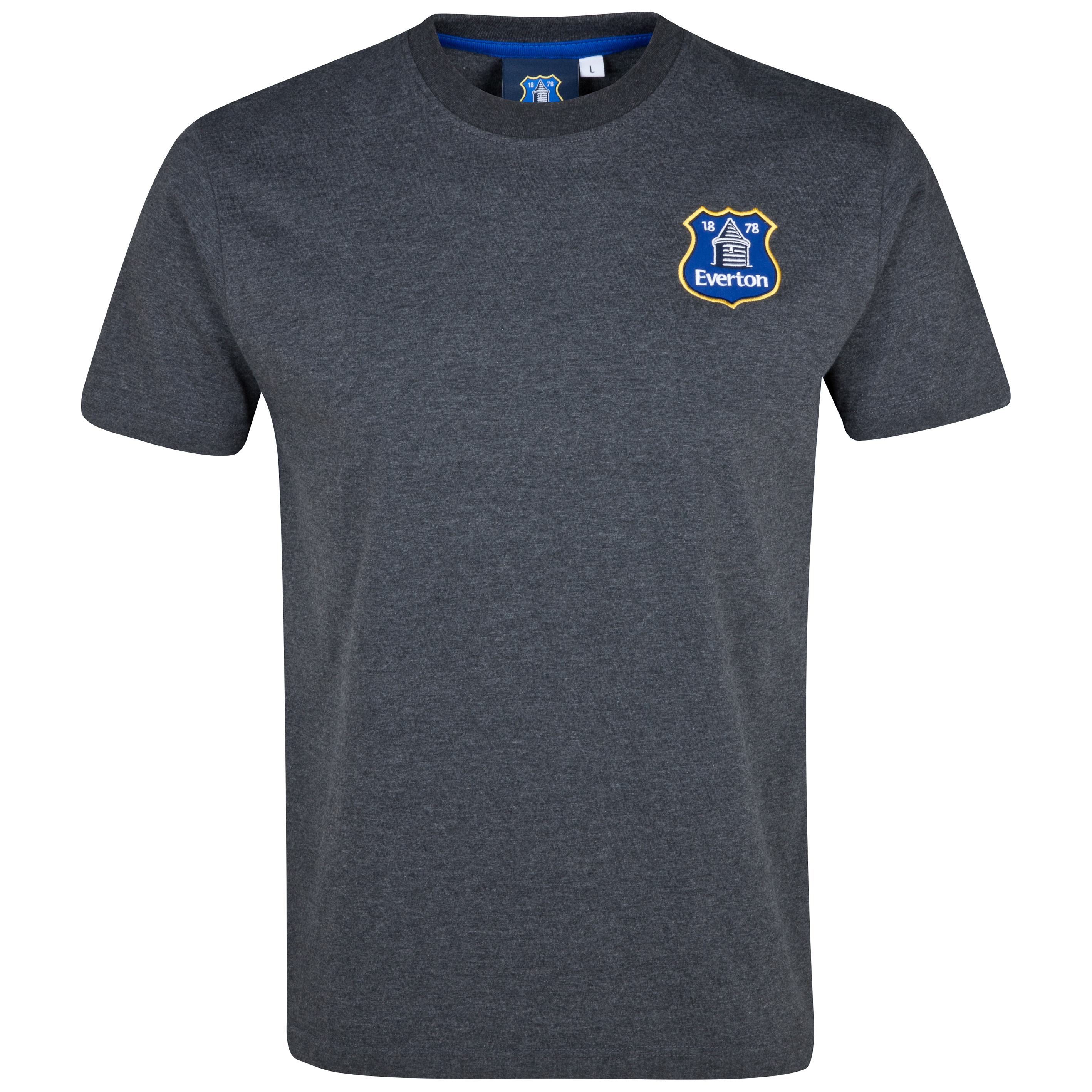 Everton Essentials Badge T-Shirt - Mens Charcoal