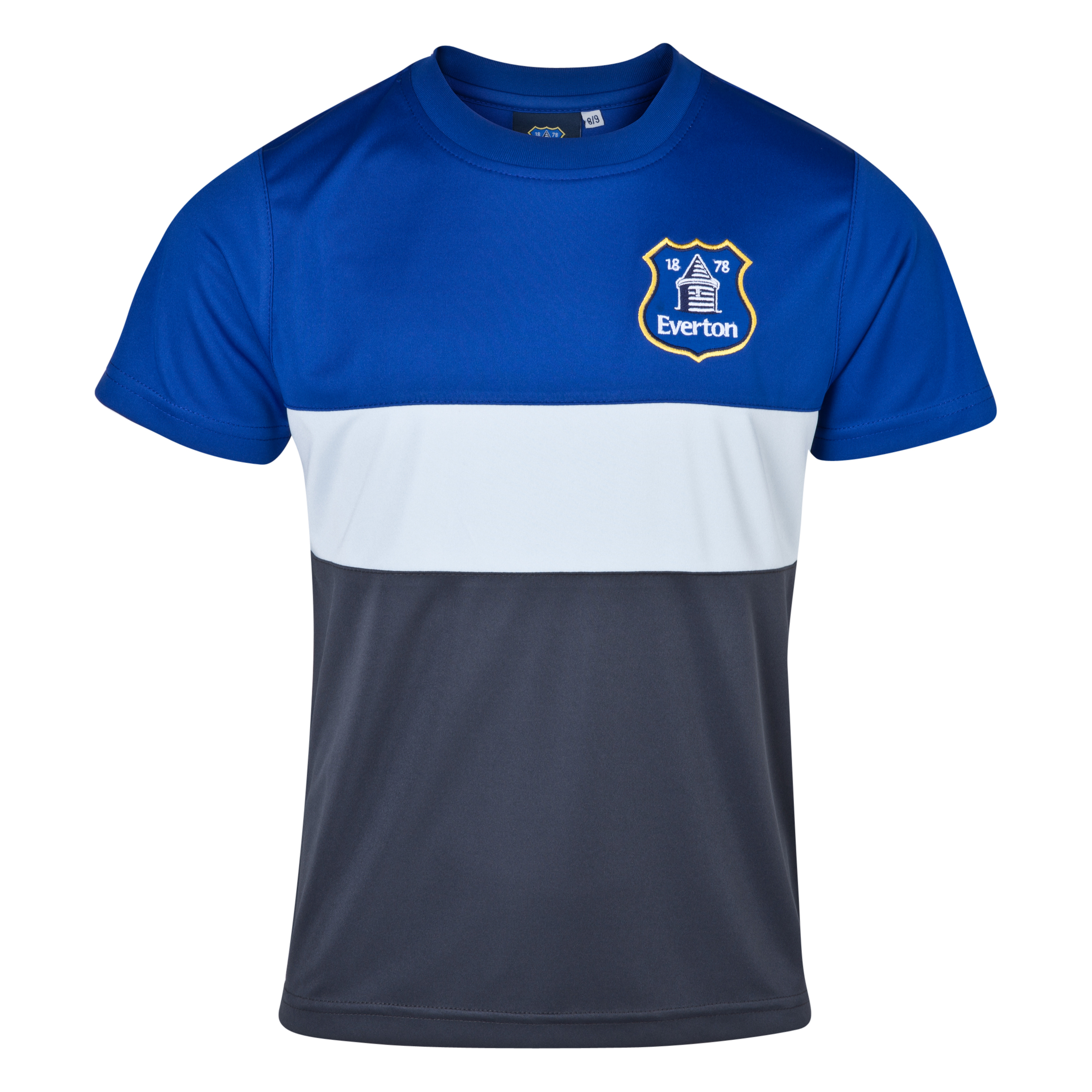 Everton Essentials Blocks T-Shirt - Older Boys Royal Blue