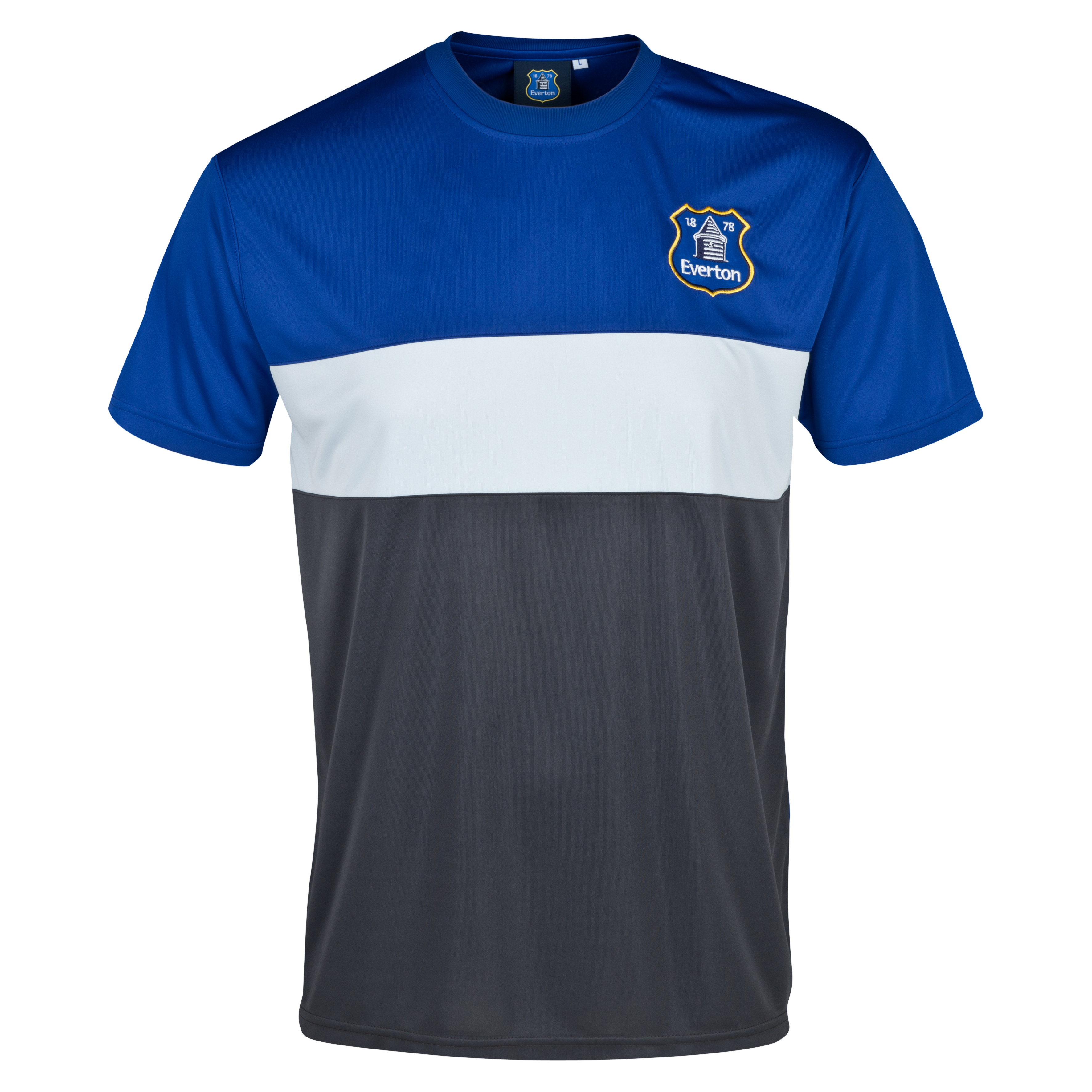 Everton Essentials Blocks T-Shirt - Mens Royal Blue