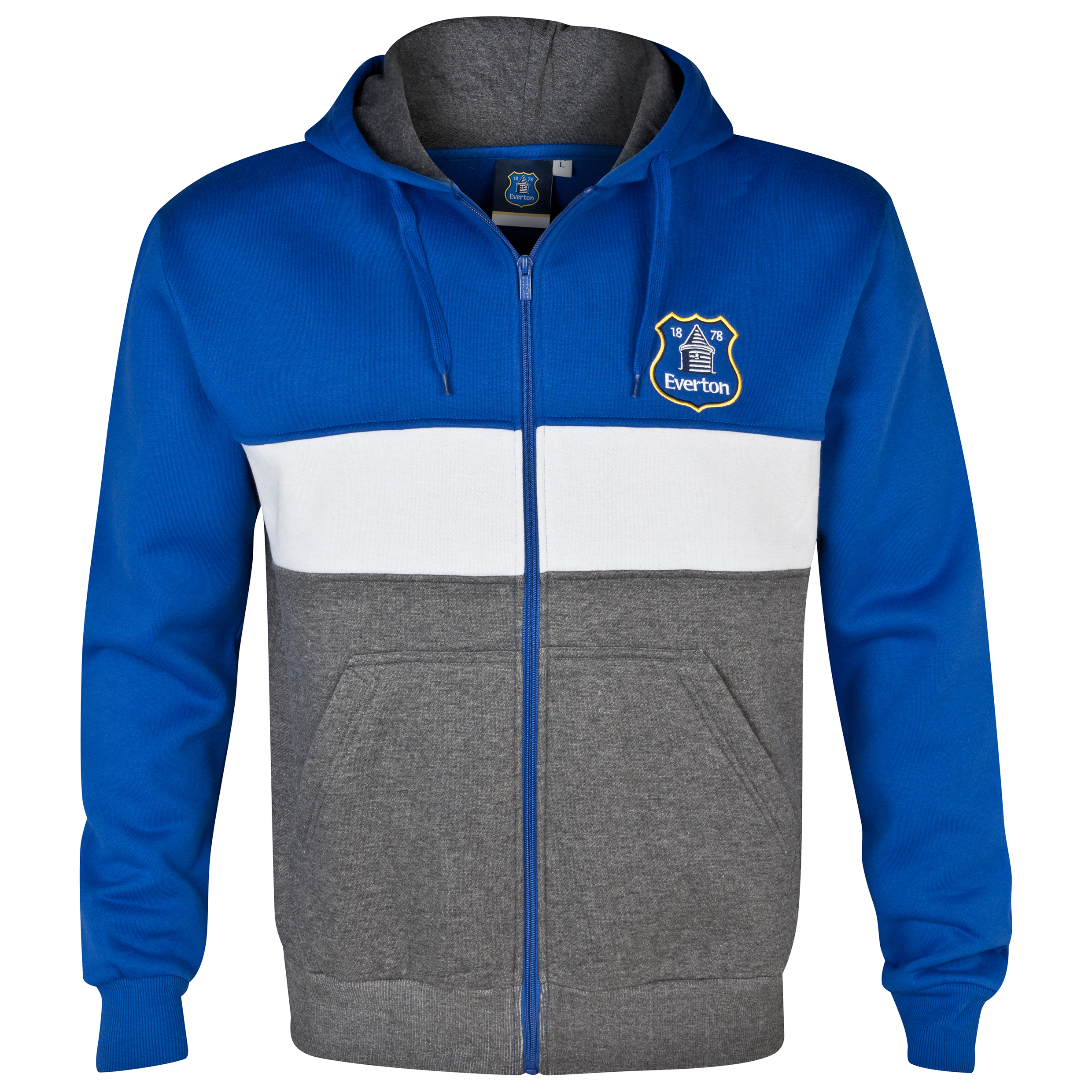 Everton Essentials Blocks Hoody - Mens Royal Blue