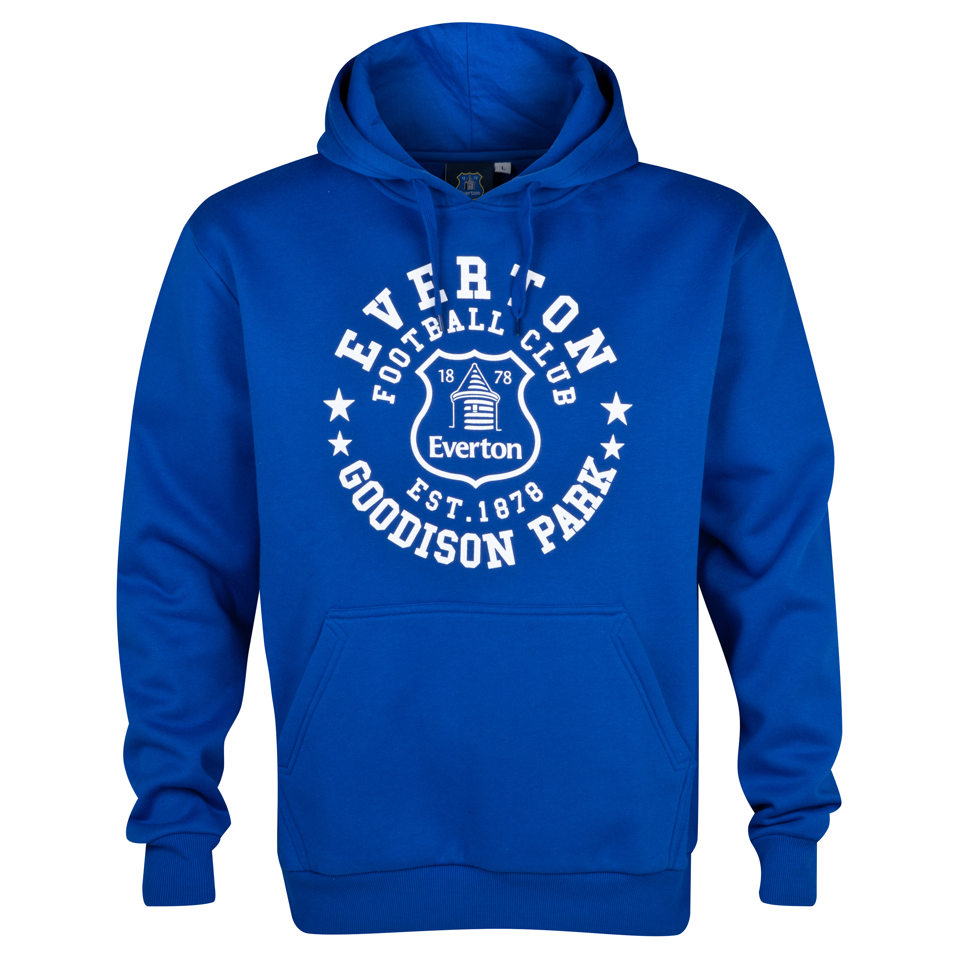 Everton Essentials Insignia Hoody - Mens Royal Blue