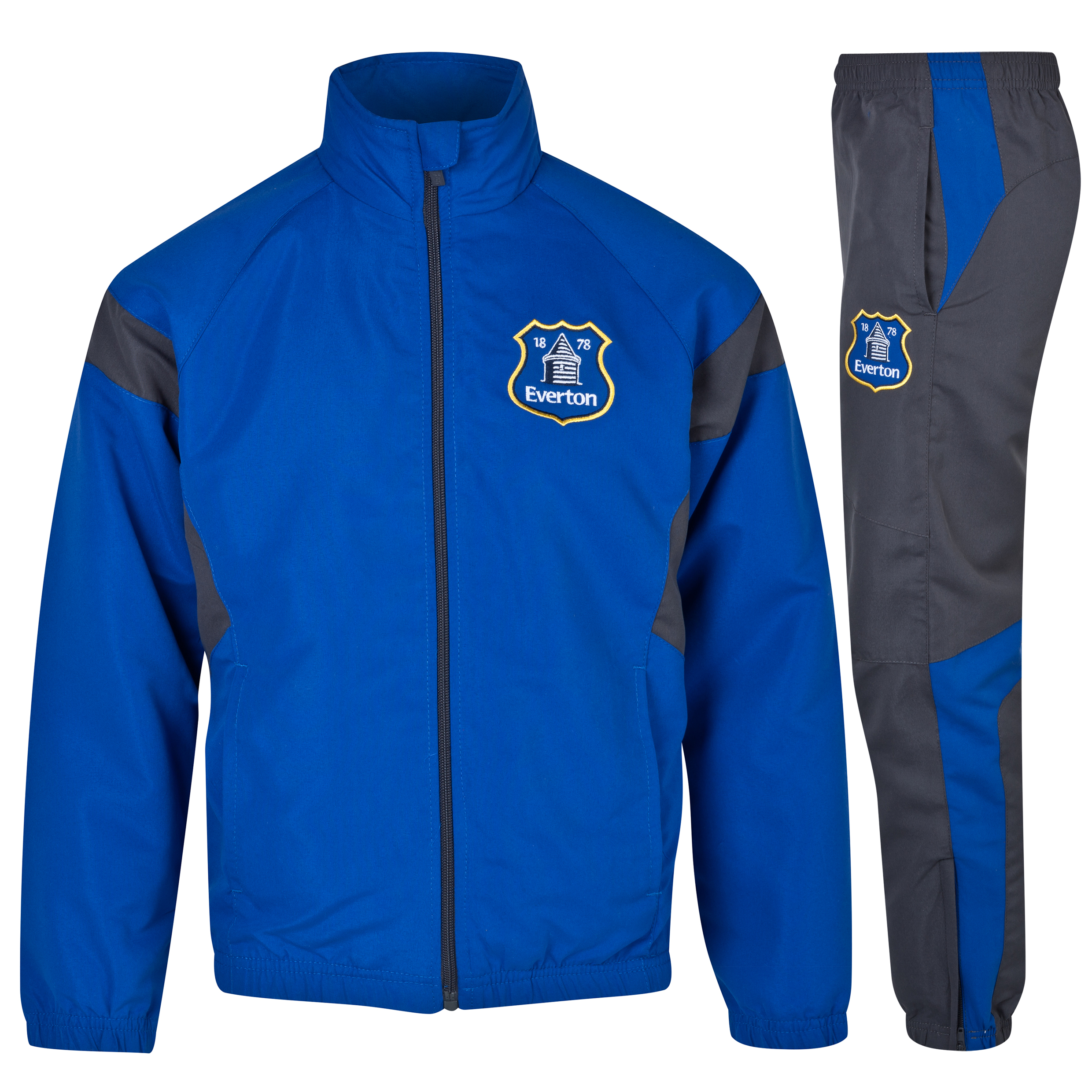 Everton Essentials Crew Tracksuit - Older Boys Royal Blue