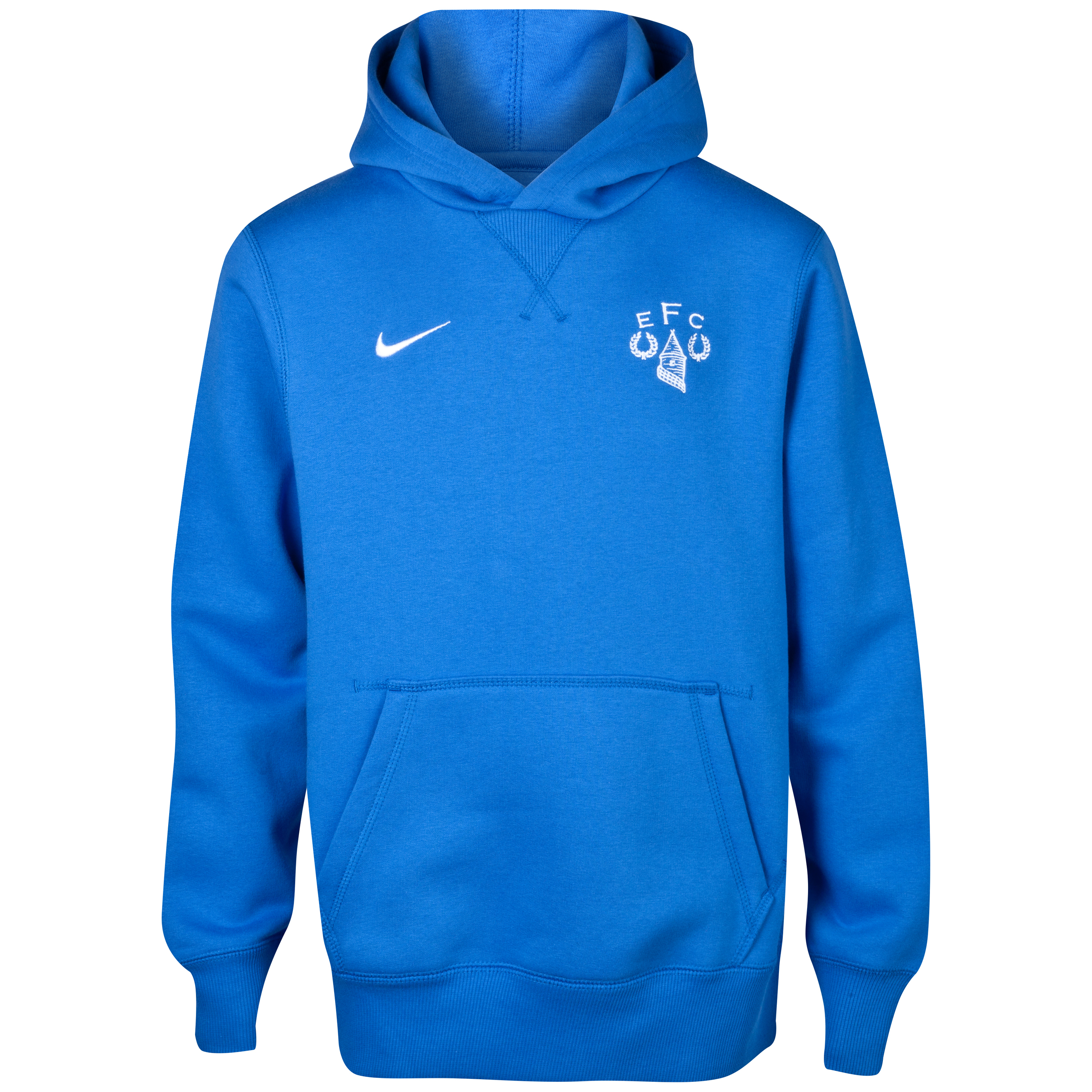 Everton Heritage Fleece Hoodie - Junior Royal Blue