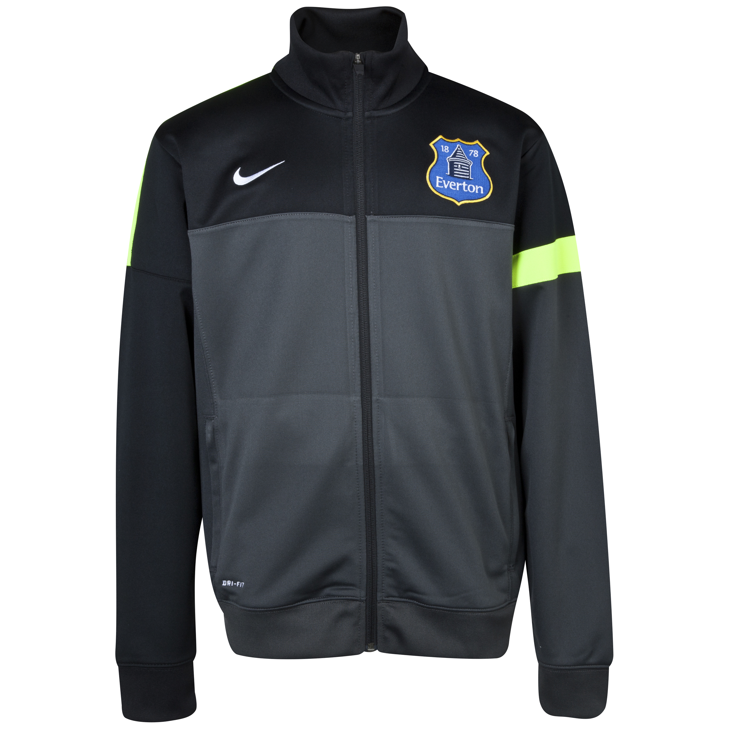 Everton Poly Jacket Grey