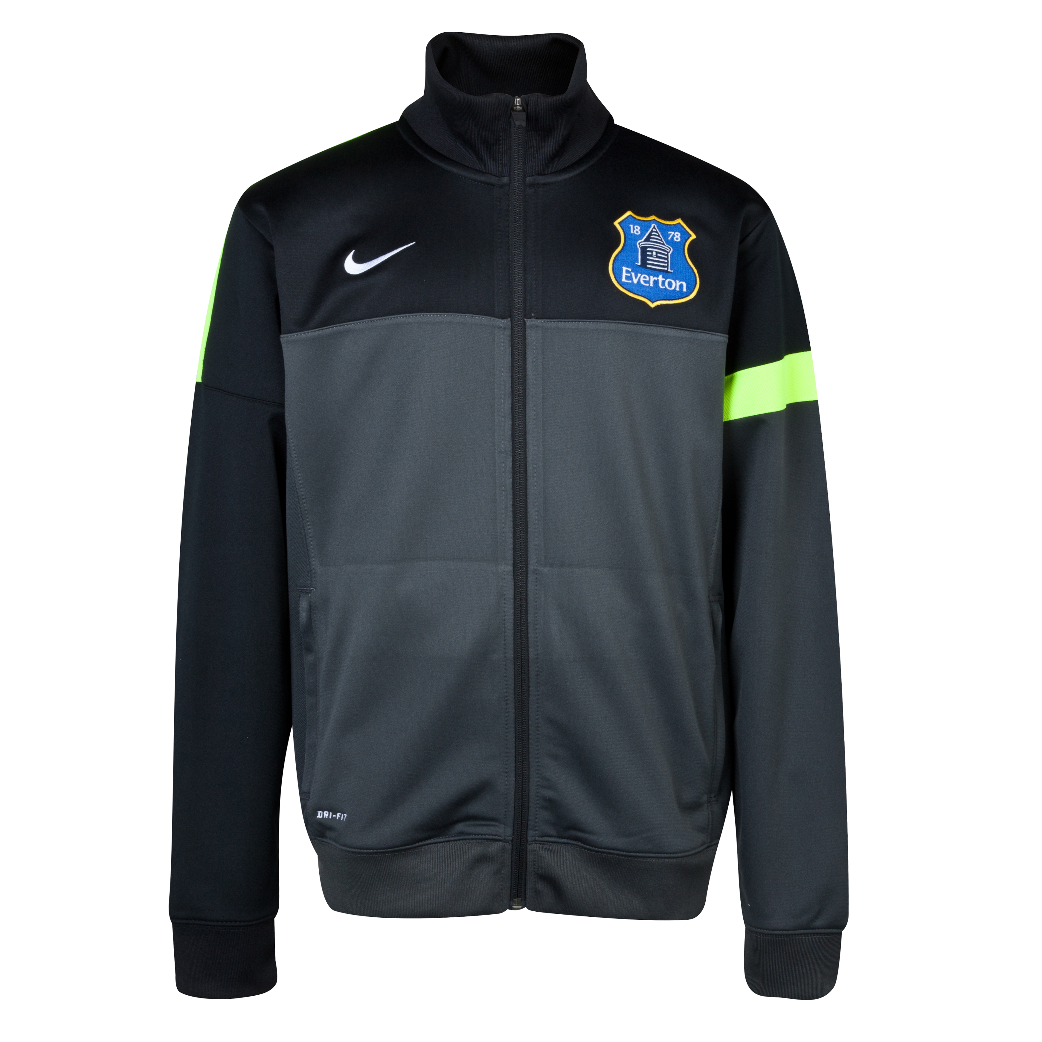 Everton Poly Jacket - Junior Grey