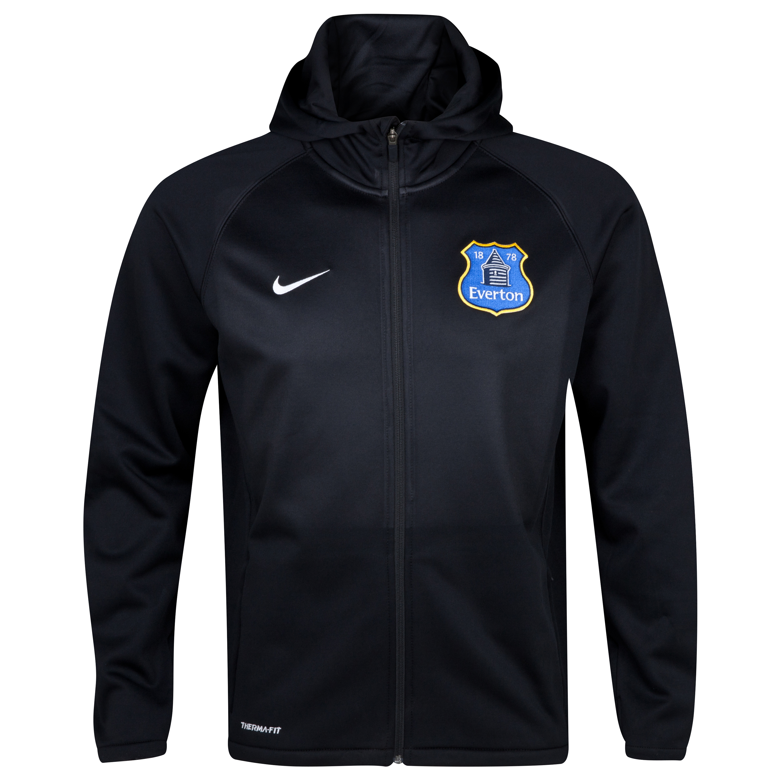 Everton Training Therma Full-Zip Hoody - Junior Black