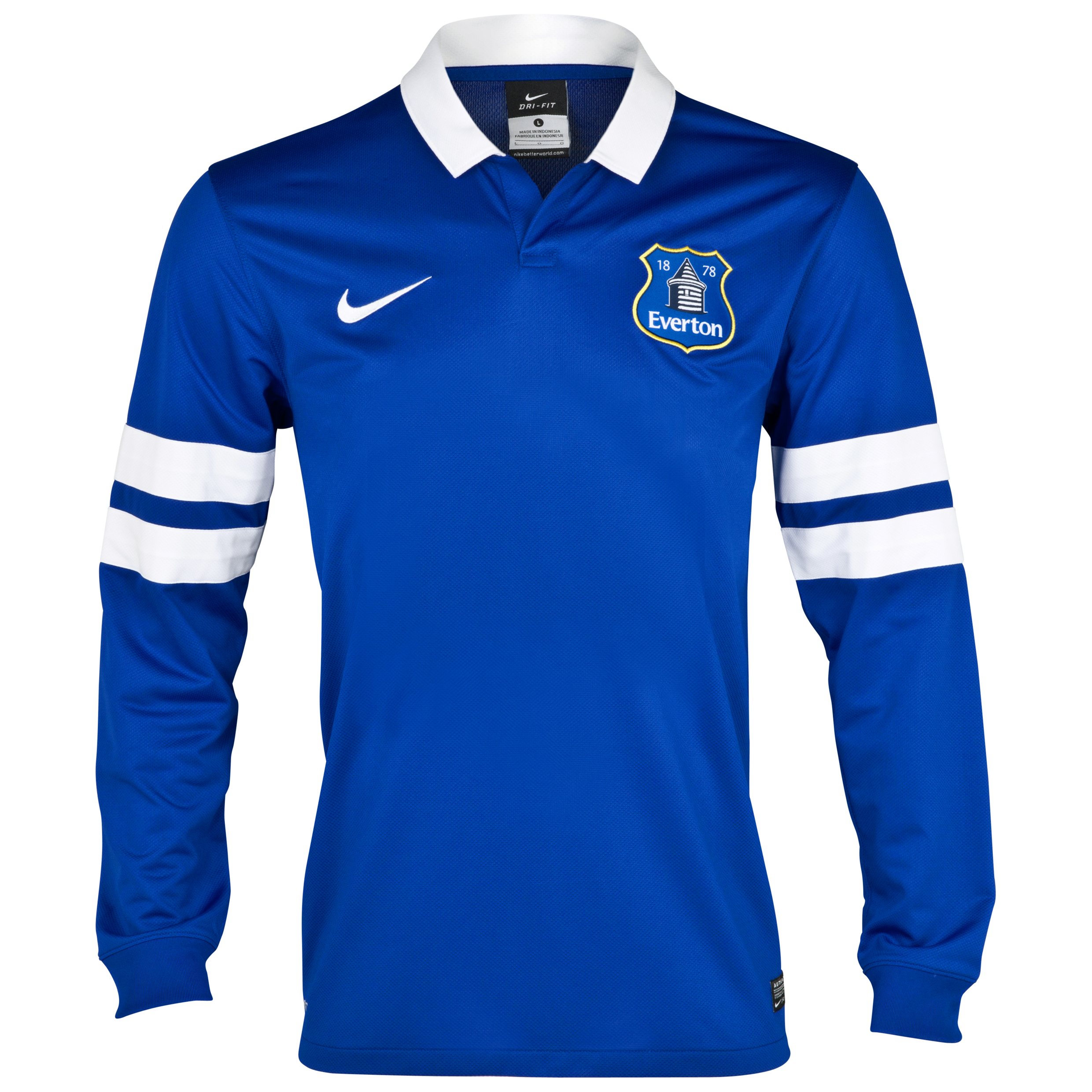 Everton Home Shirt 2013/14 - Junior - Long Sleeved Blue