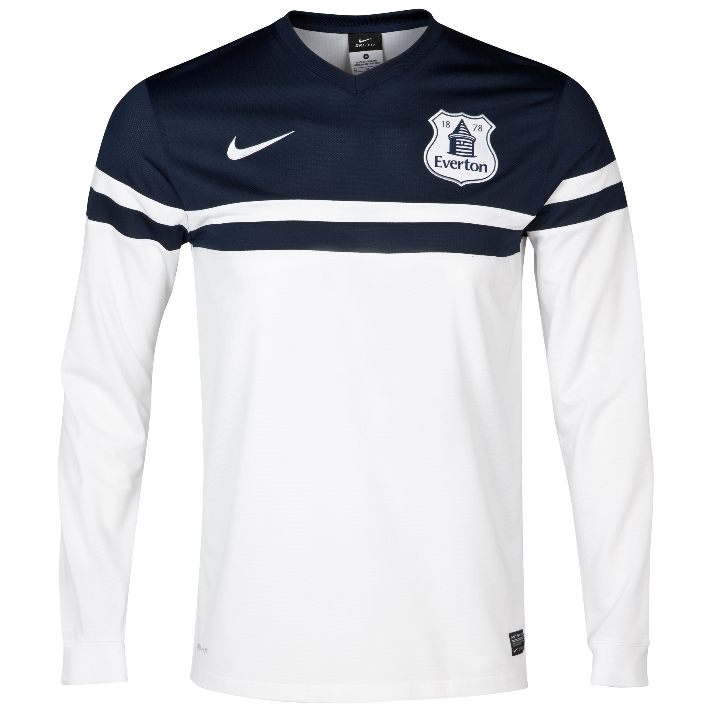 Everton 3rd Shirt 2013/14 - Junior - Long Sleeved White