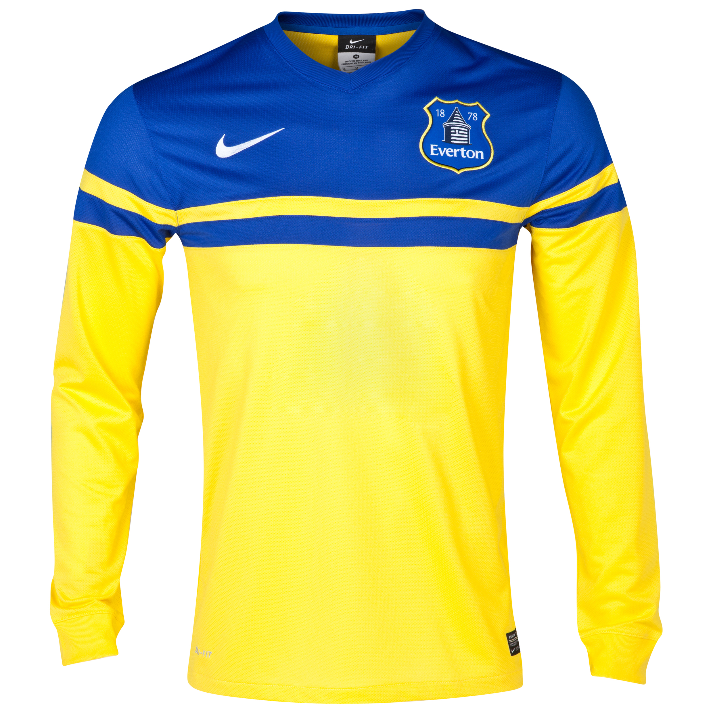 Everton Away Shirt 2013/14 - Junior - Long Sleeved Yellow