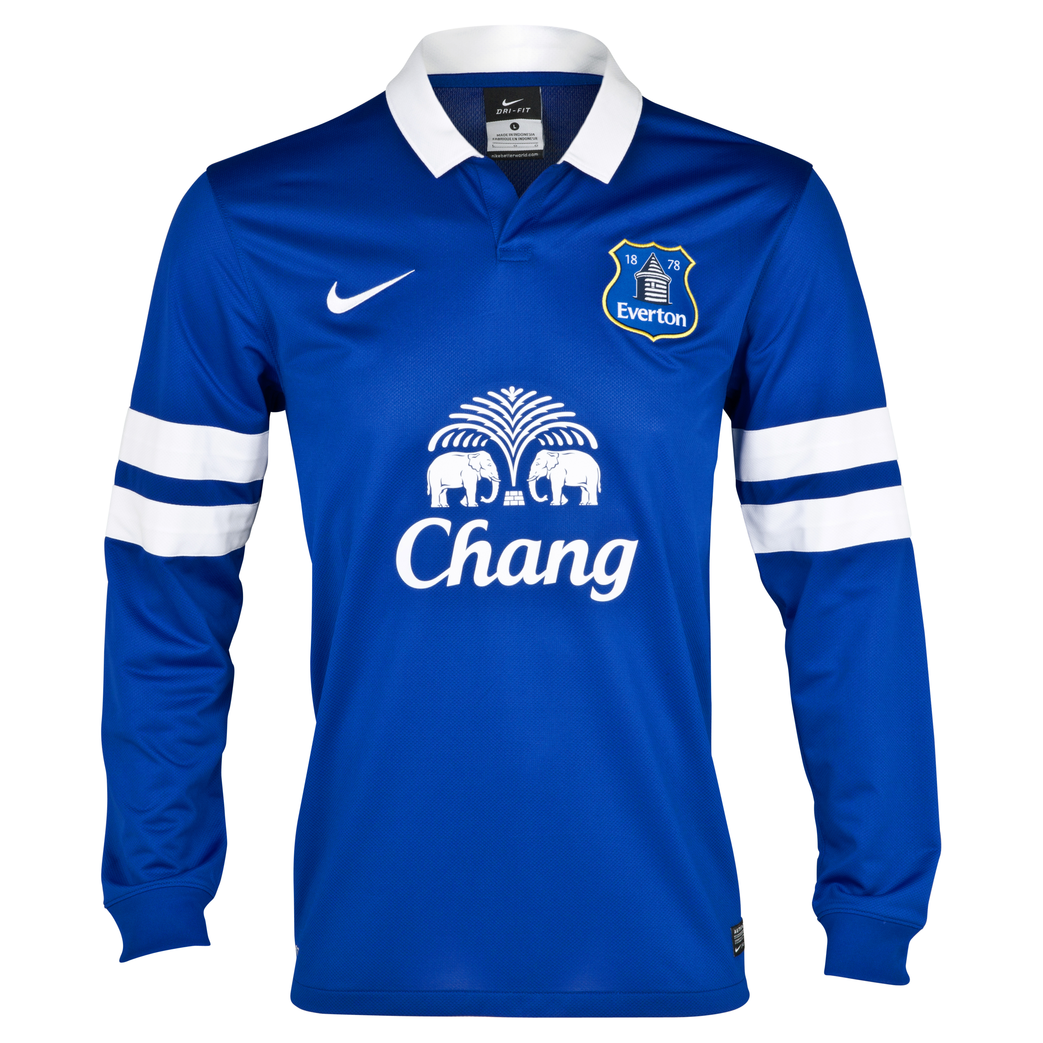 Everton Home Shirt 2013/14 - Long Sleeved Blue