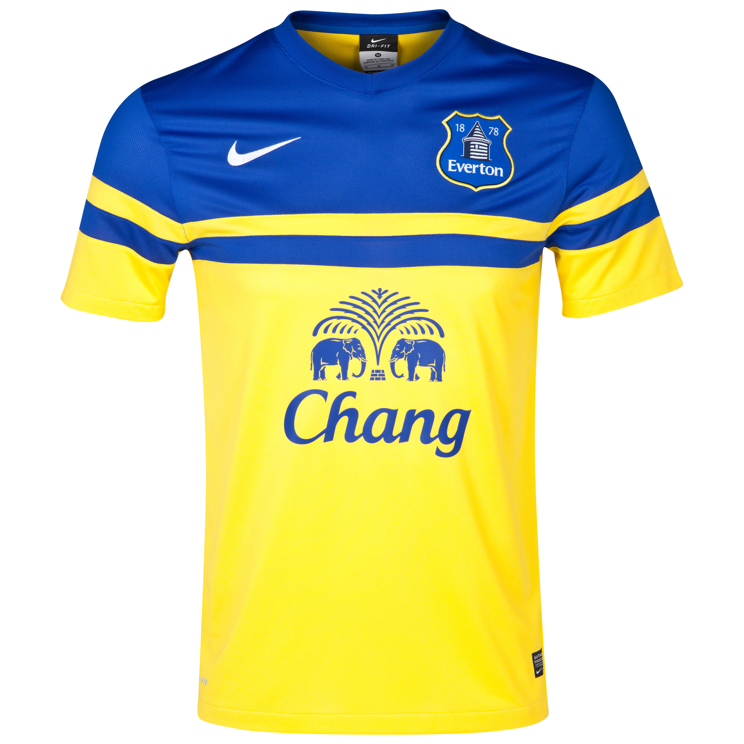 Everton Away Shirt 2013/14 Yellow