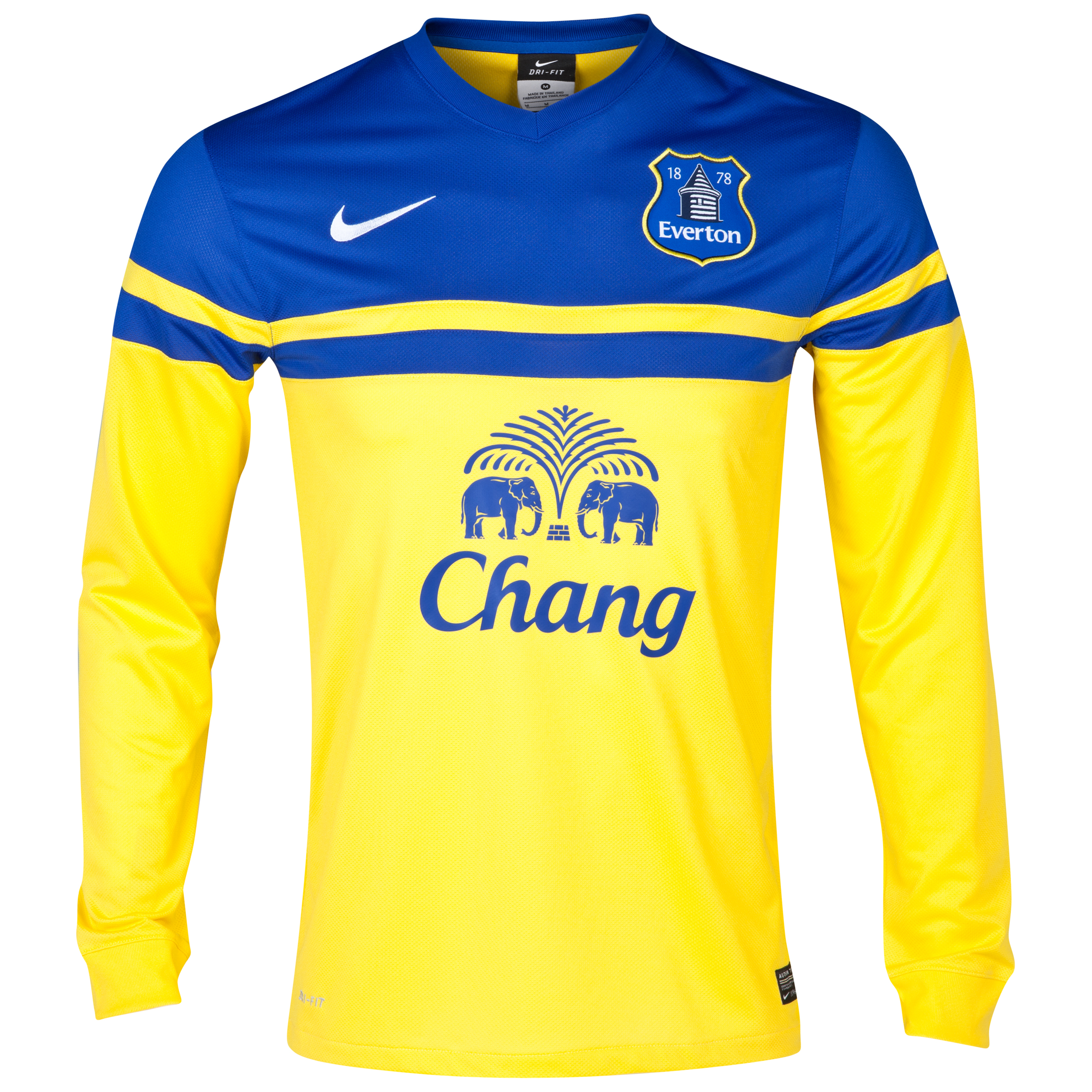 Everton Away Shirt 2013/14 - Long Sleeved Yellow