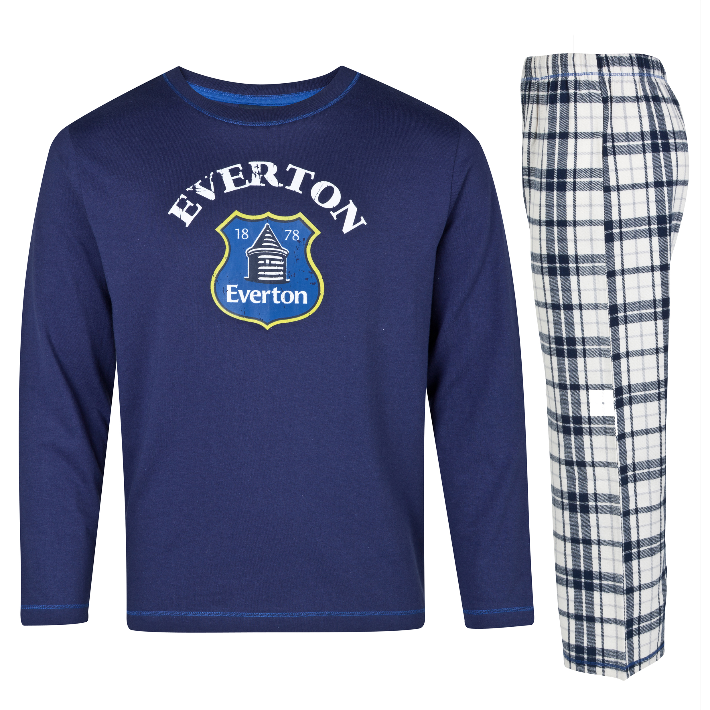 Everton Crest Pyjamas Older Boys Navy