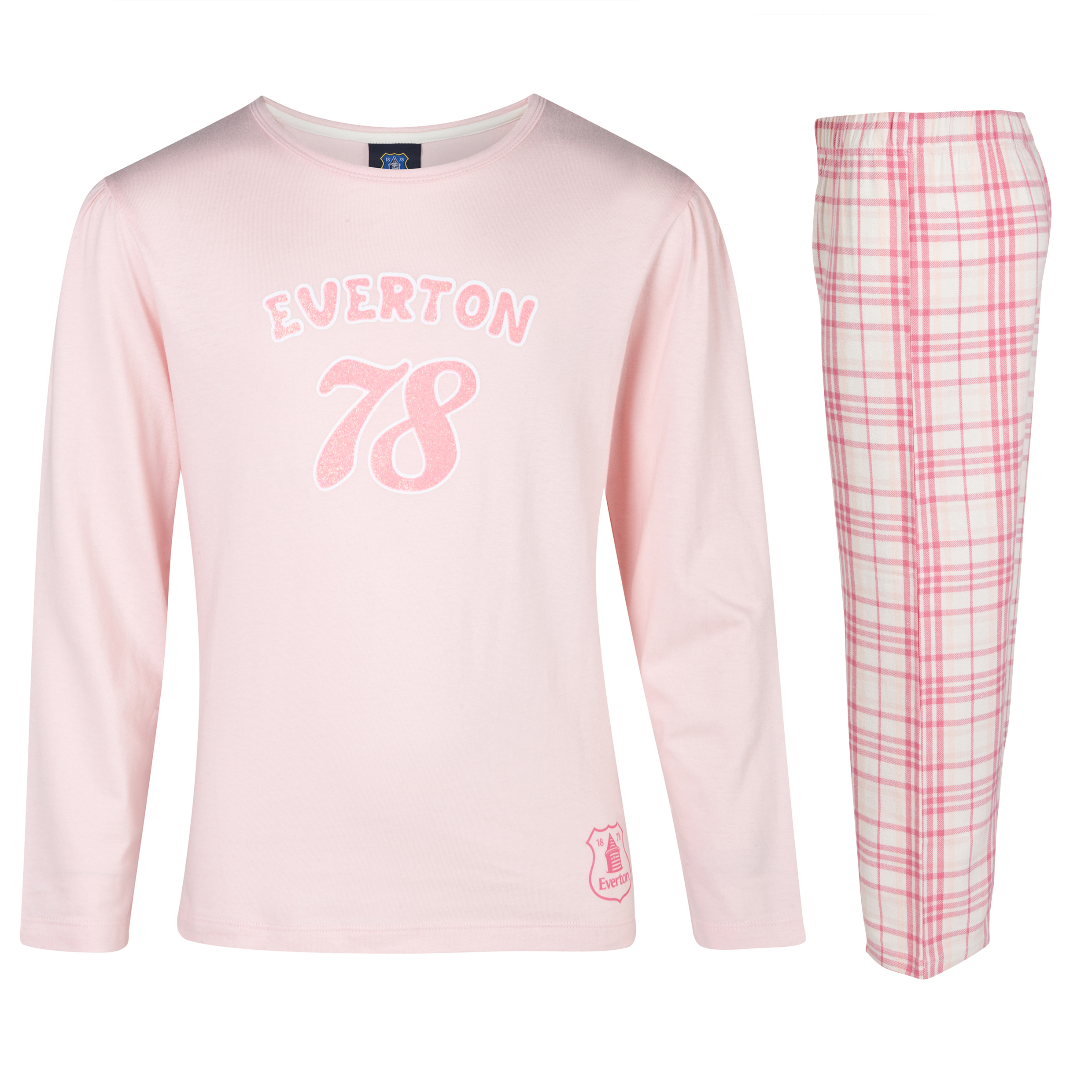 Everton 78 Pyjamas Older Girls Pink