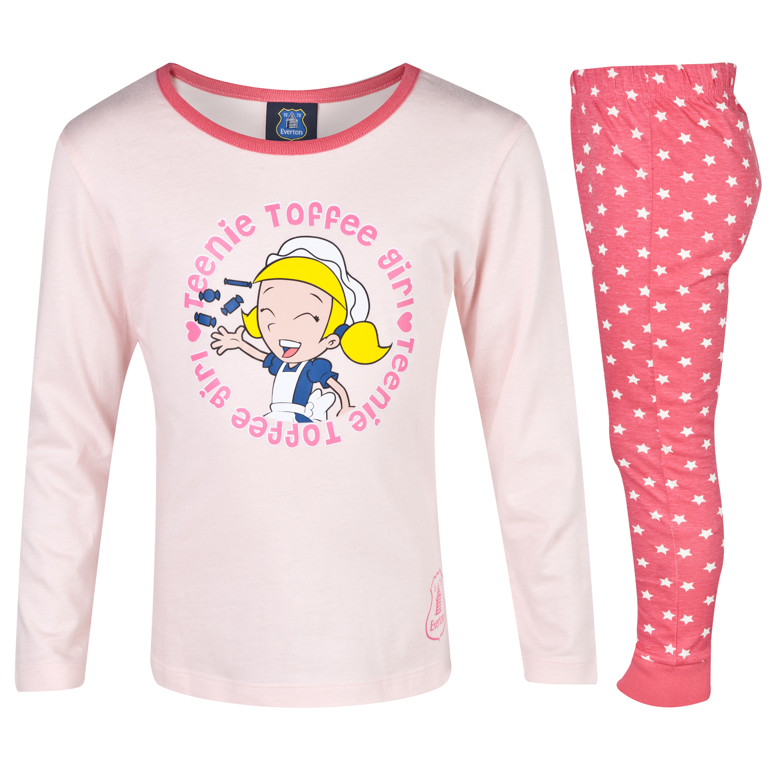 Everton Toffee Girl Pyjamas Infant Girls Pink
