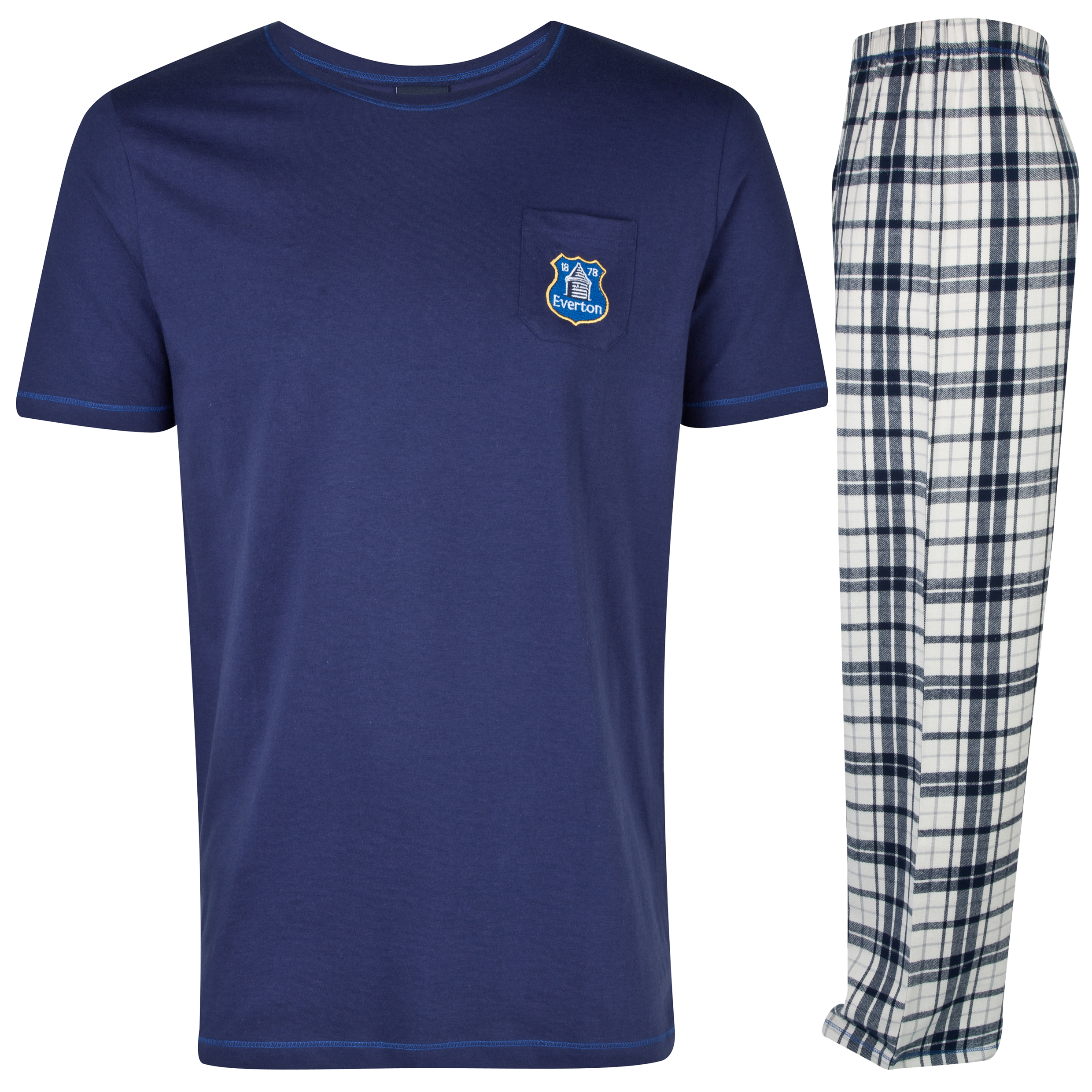 Everton Long Pyjamas Mens Navy