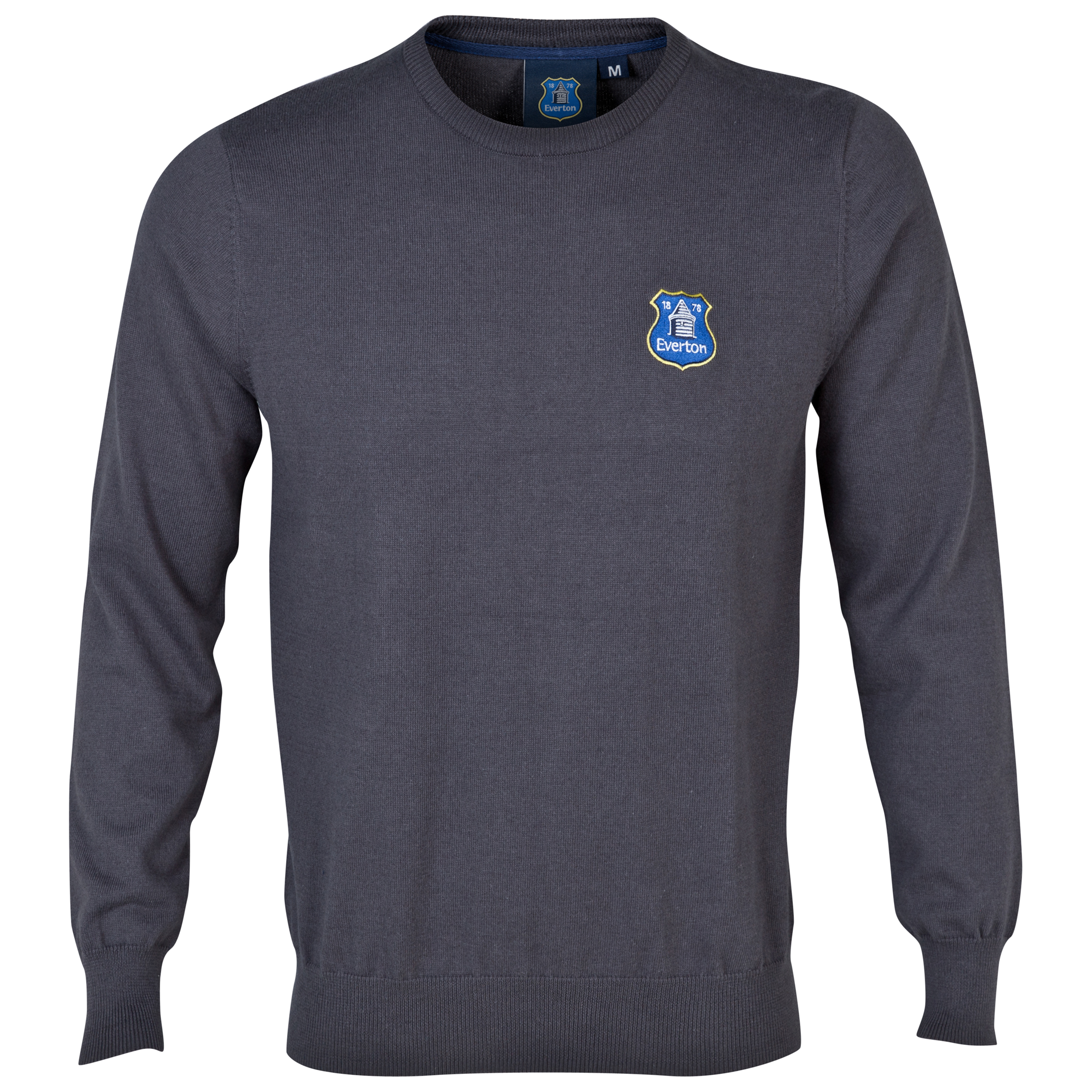 Everton Essentials Spindle Crew Neck Jumper Dk Grey
