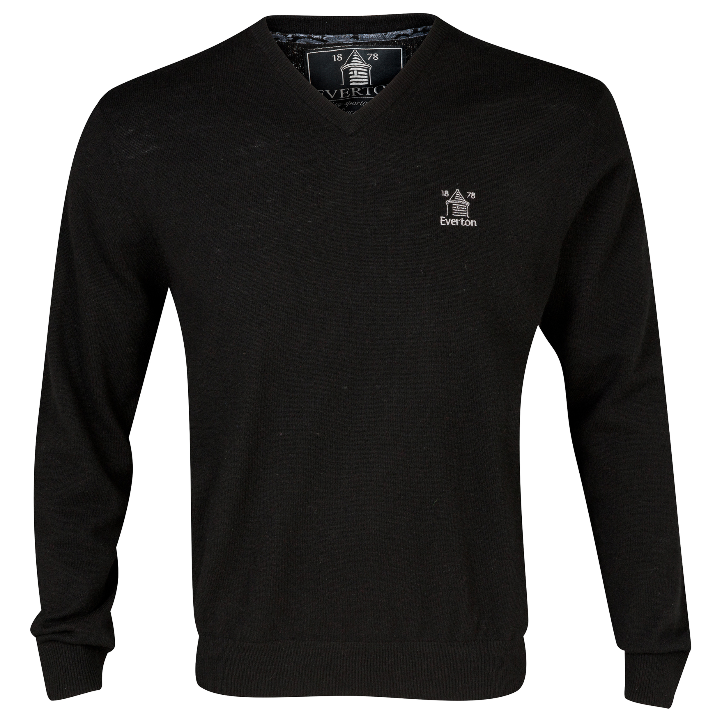 Everton V-Neck Lambswool jumper Black
