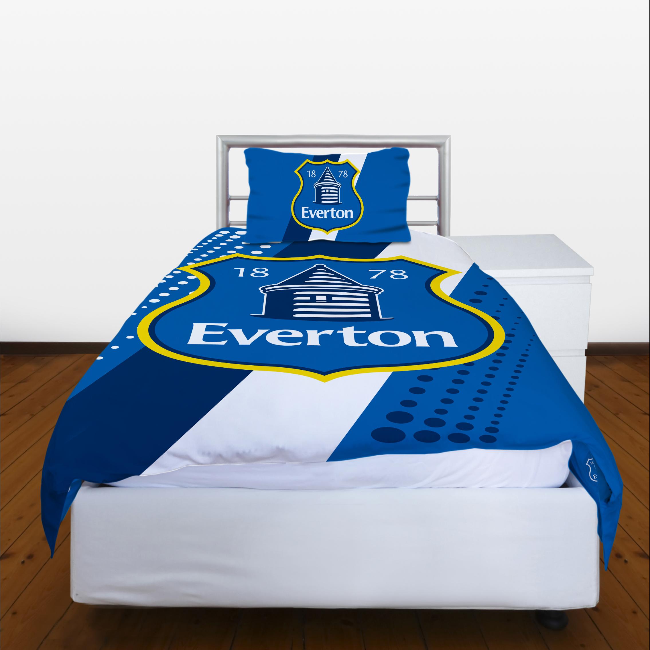 Everton Crest Stripe Single Duvet
