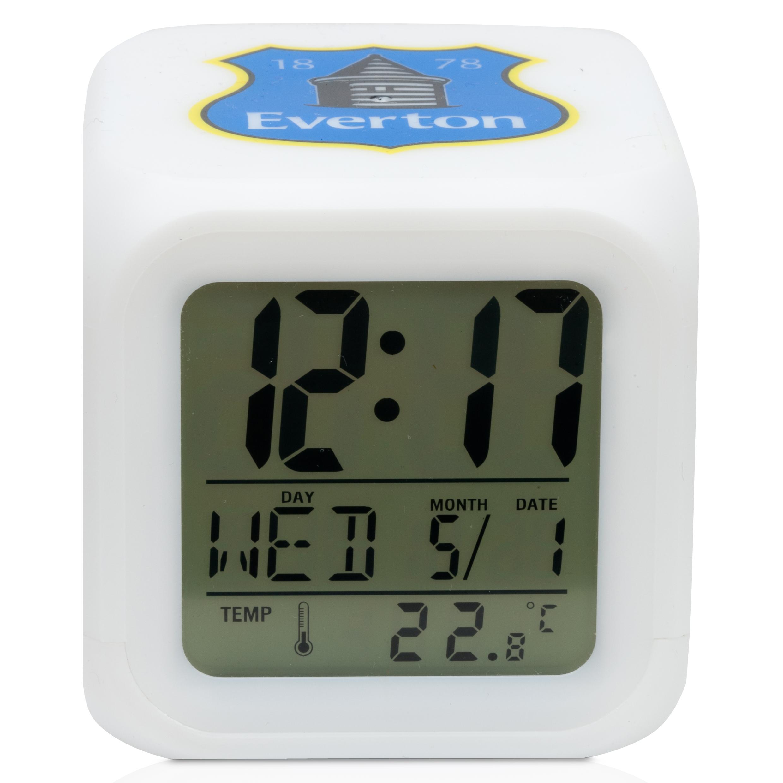 Everton Cube Glow Alarm Clock