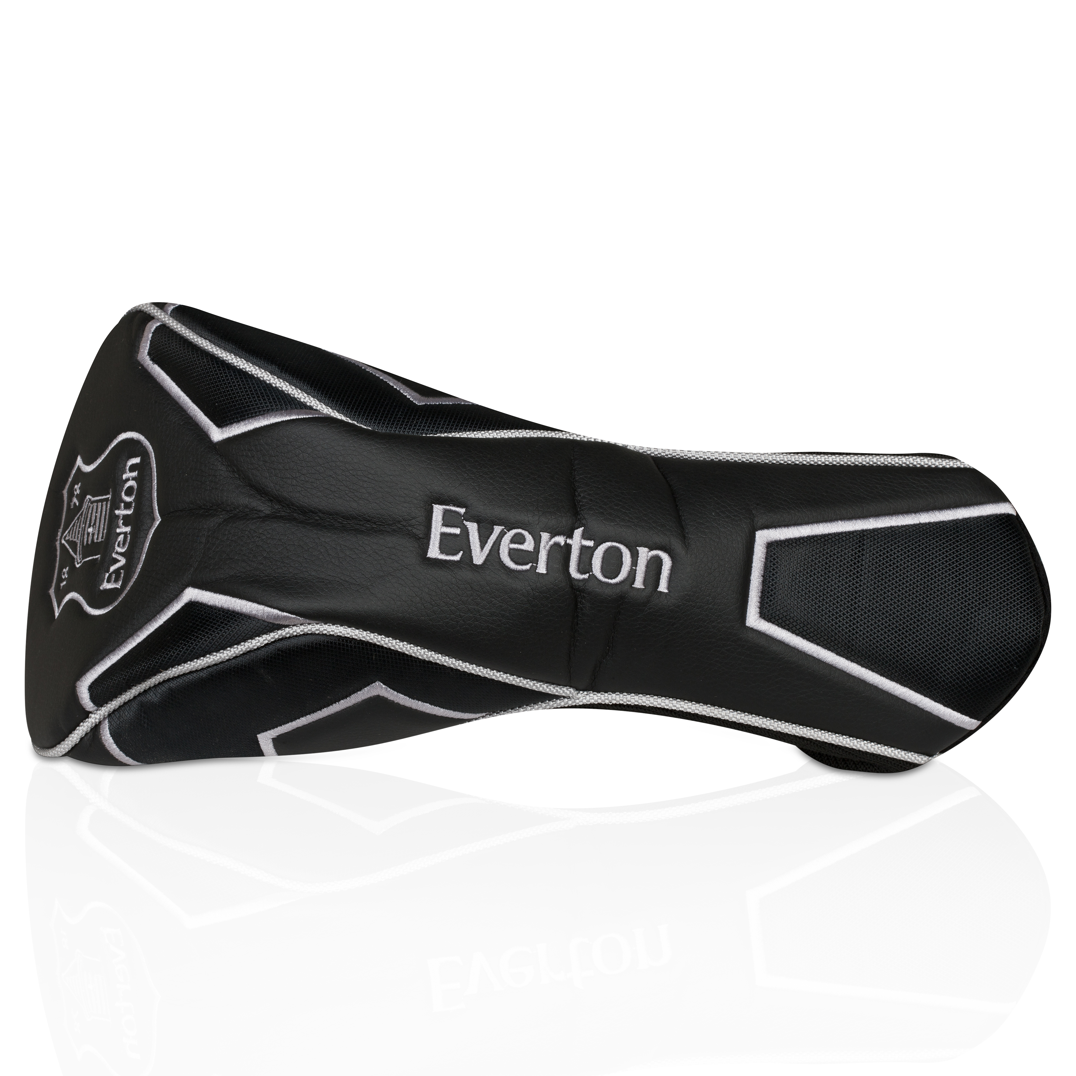 Everton Executive Golf Driver Head Cover - Black/Silver