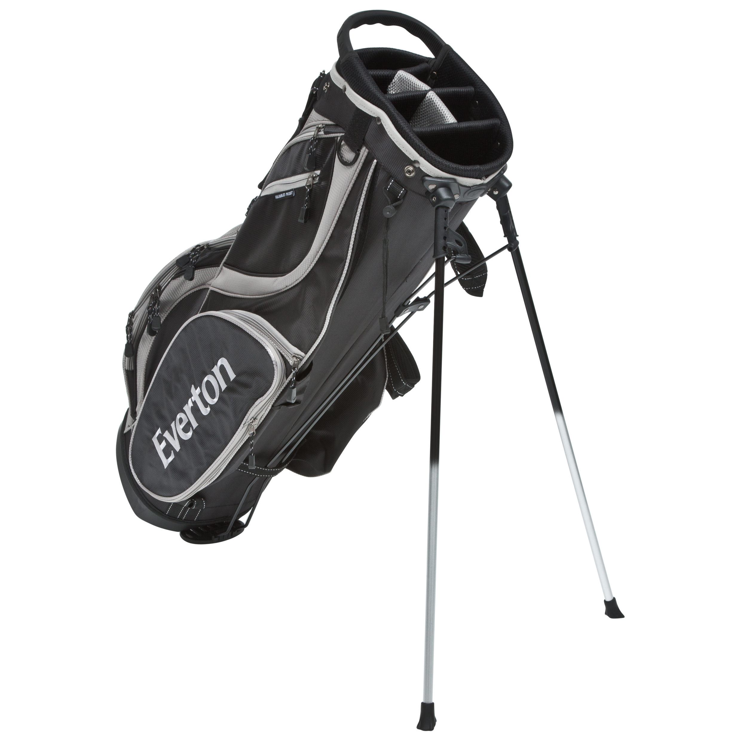 Everton Executive Golf Stand Bag - Black/Silver
