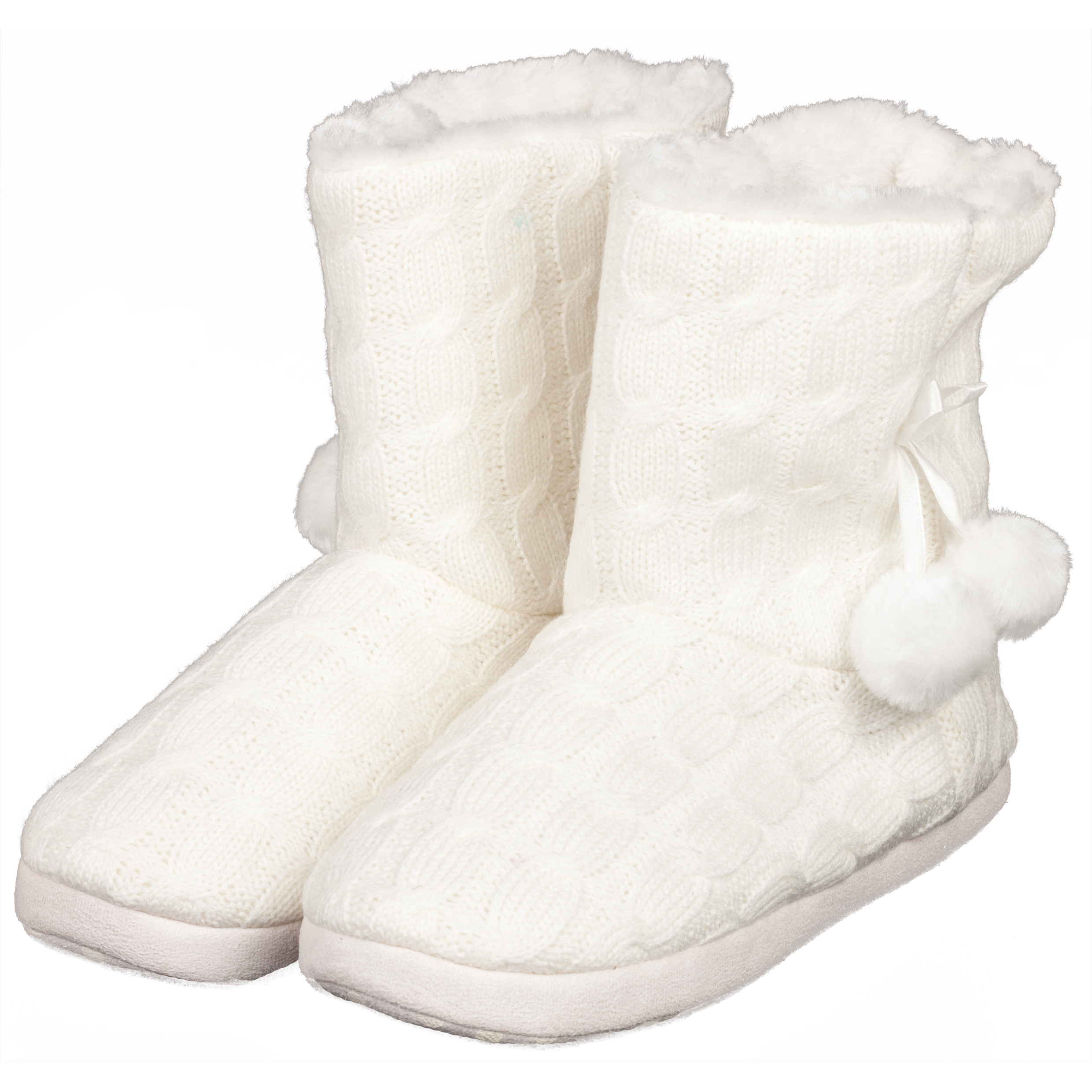 Everton Ella Boot Slippers Womens Cream