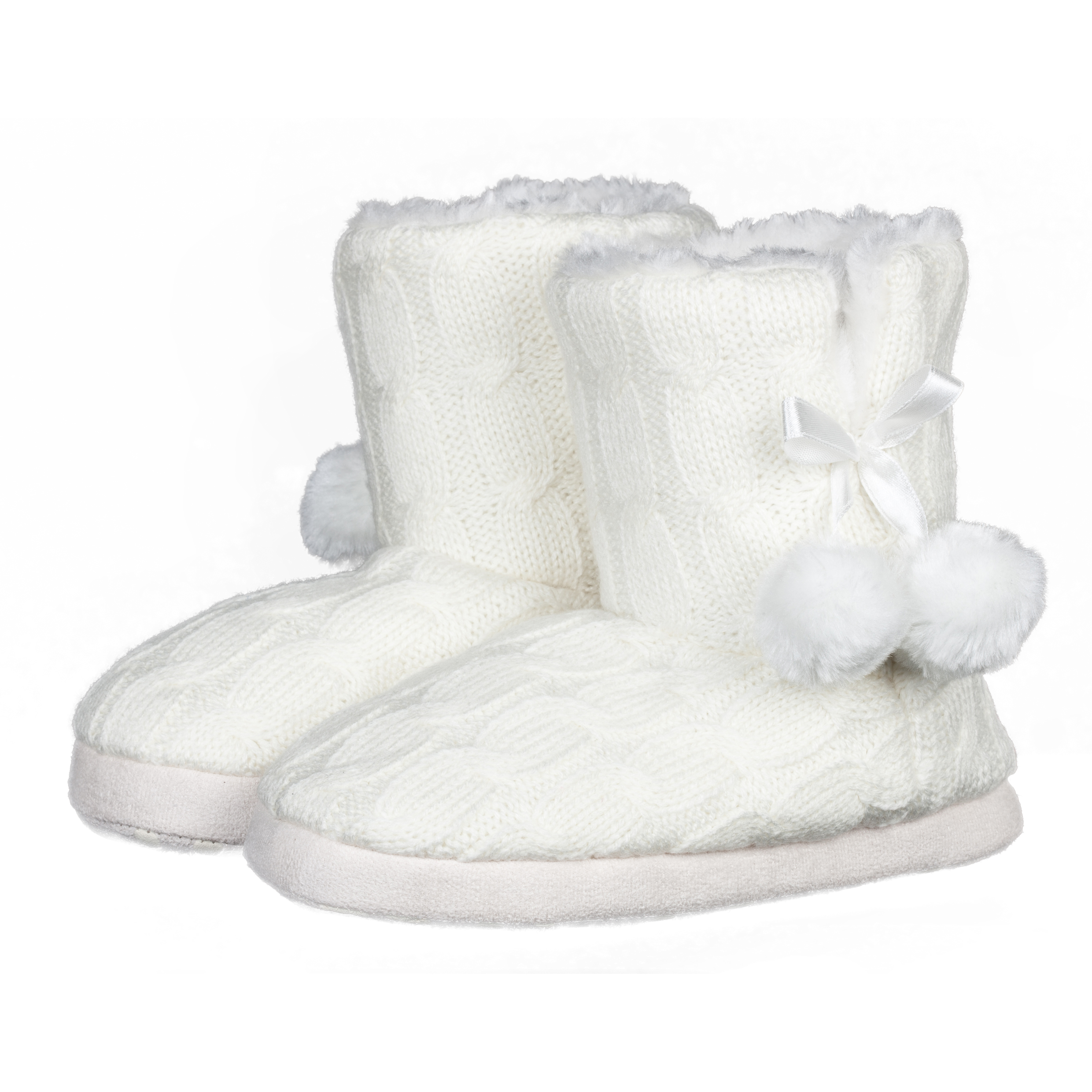 Everton Ella Boot Slippers Girls Cream