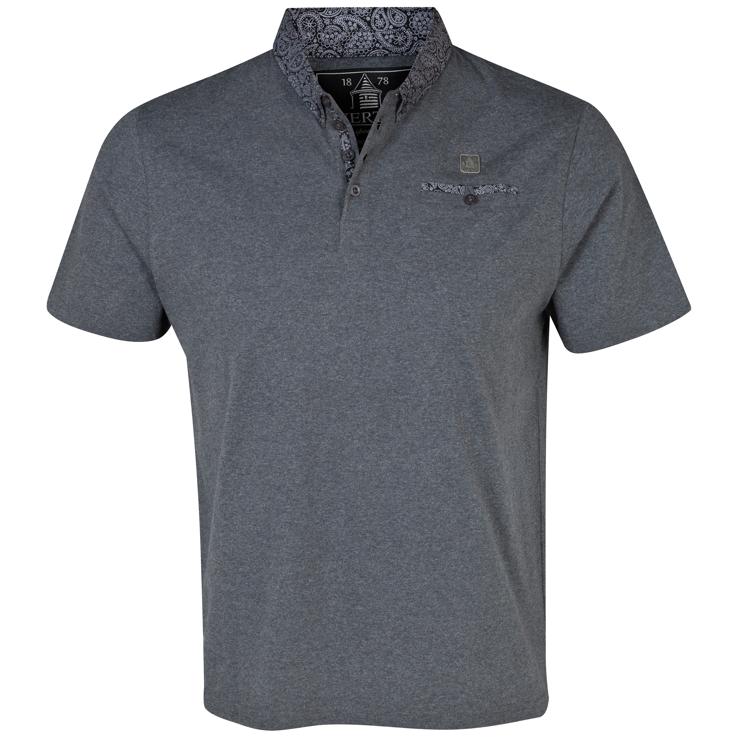 Everton Nevis Polo Shirt - Mens Charcoal